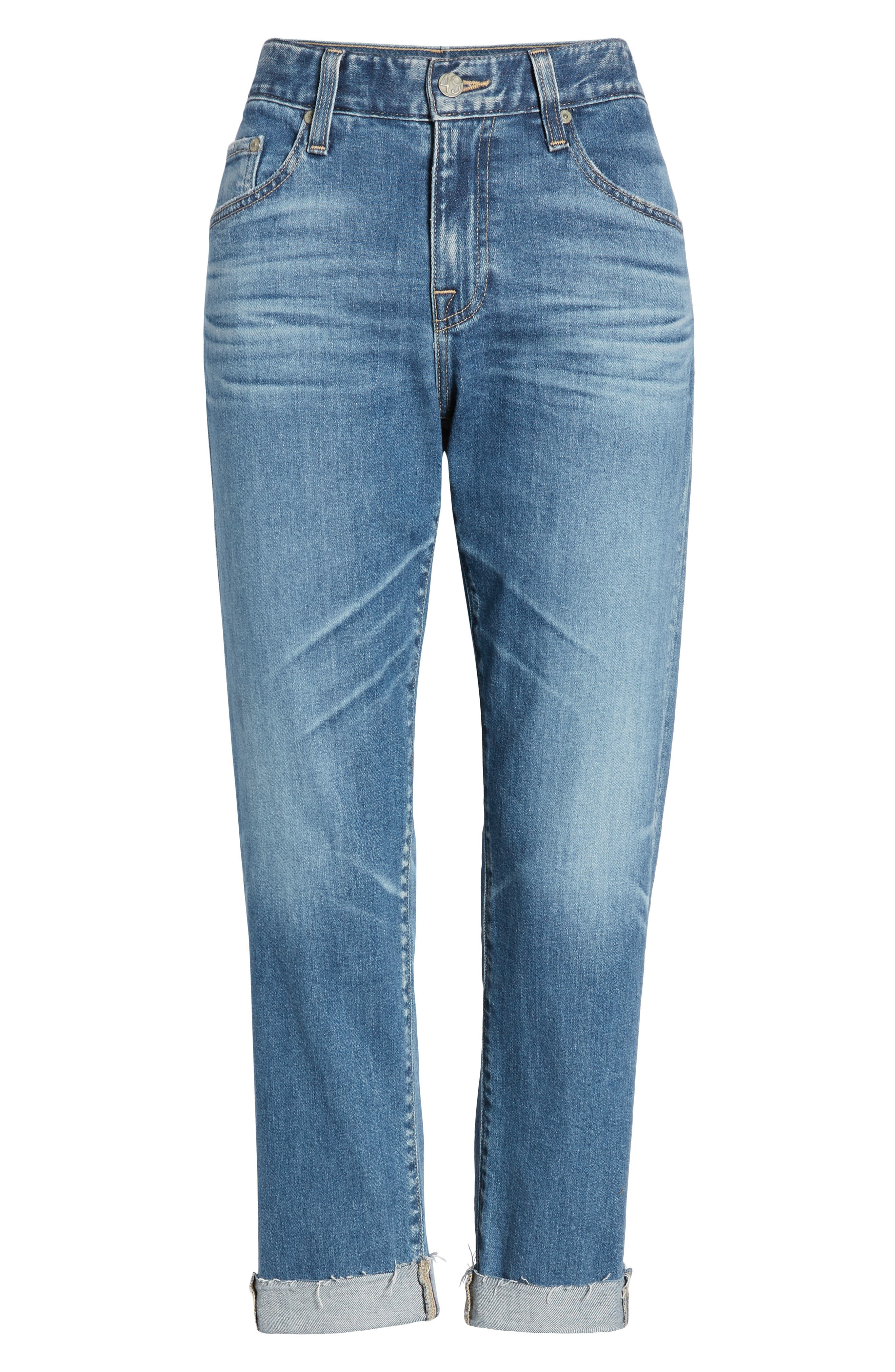 AG, The Ex-Boyfriend Slim Jeans, Alternate thumbnail 7, color, 14 YEAR COOL WATER