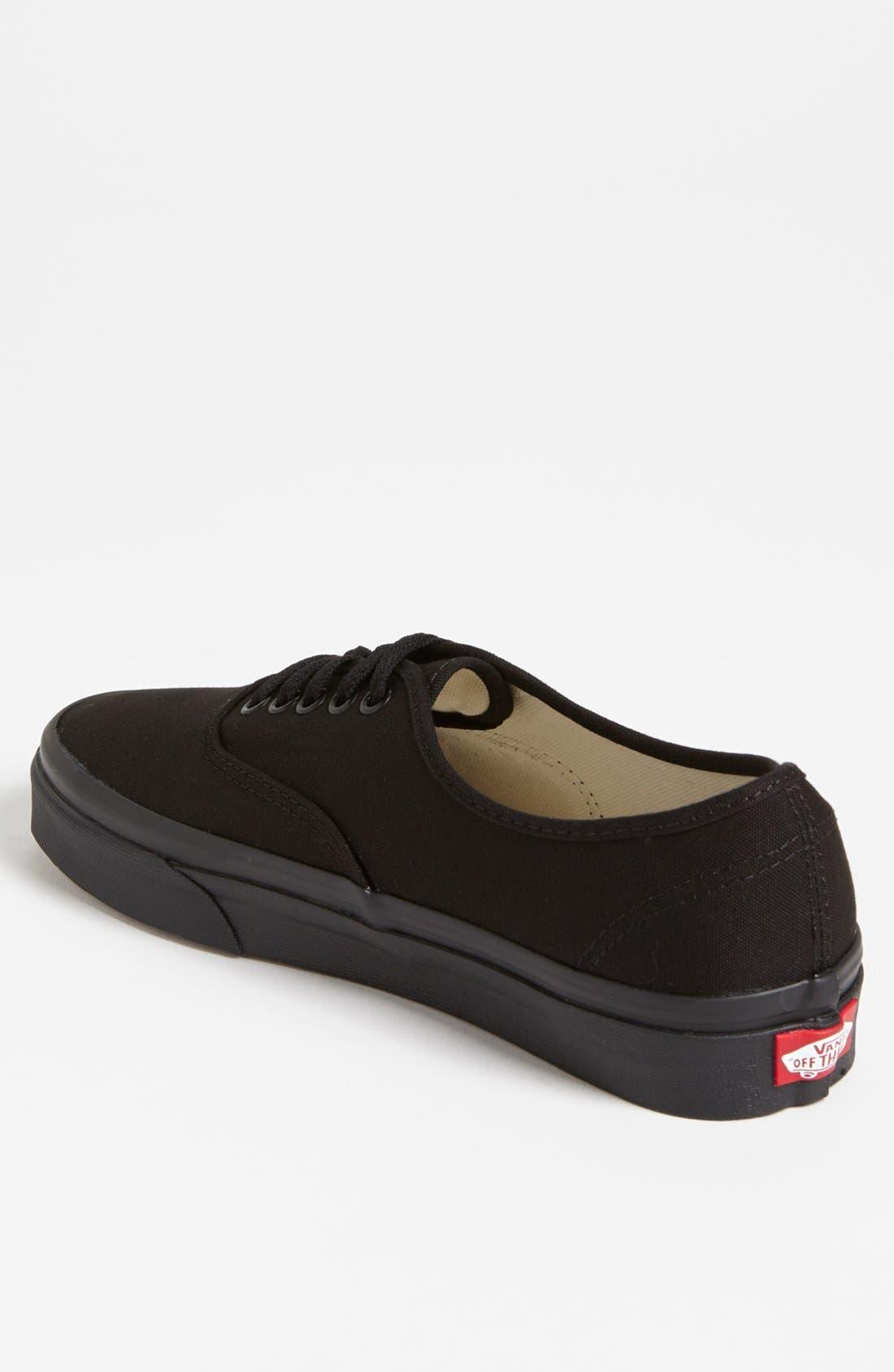 VANS, 'Authentic' Sneaker, Alternate thumbnail 3, color, BLACK/ BLACK