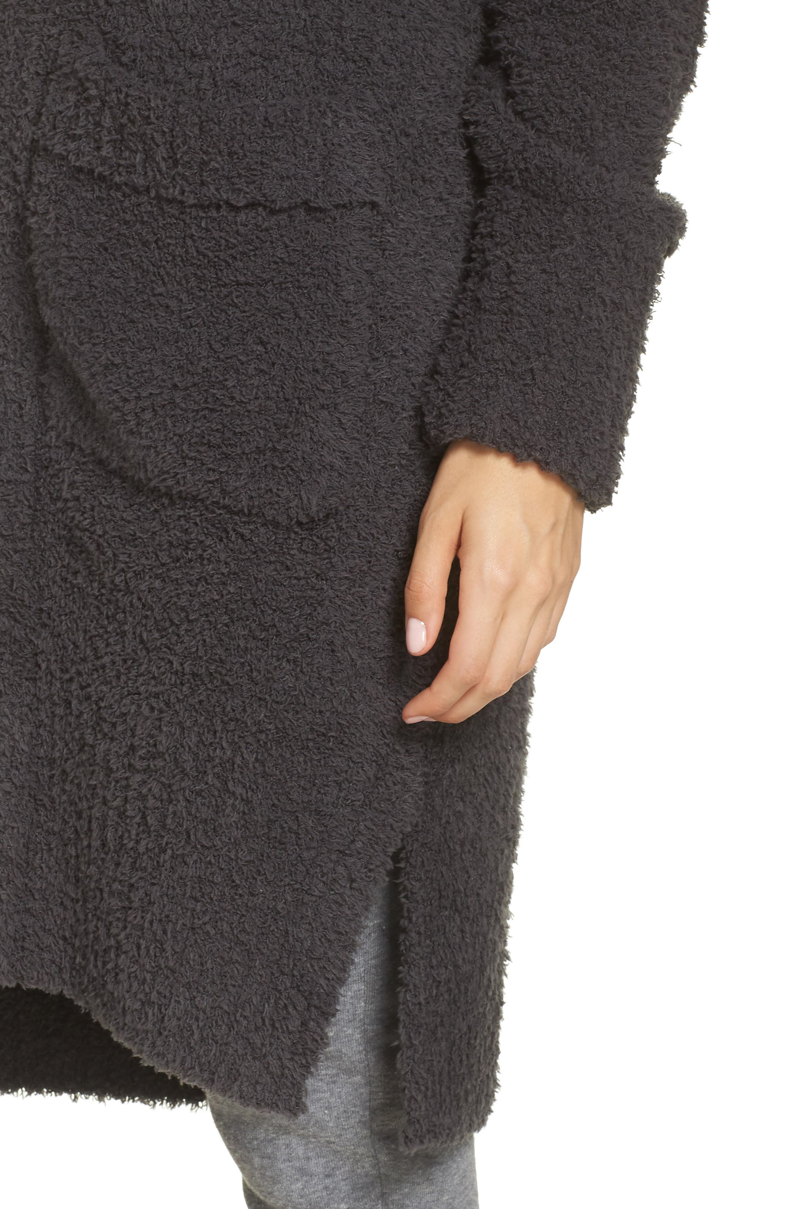 BAREFOOT DREAMS<SUP>®</SUP>, CozyChic<sup>®</sup> Nor-Cal Lounge Coat, Alternate thumbnail 4, color, CARBON