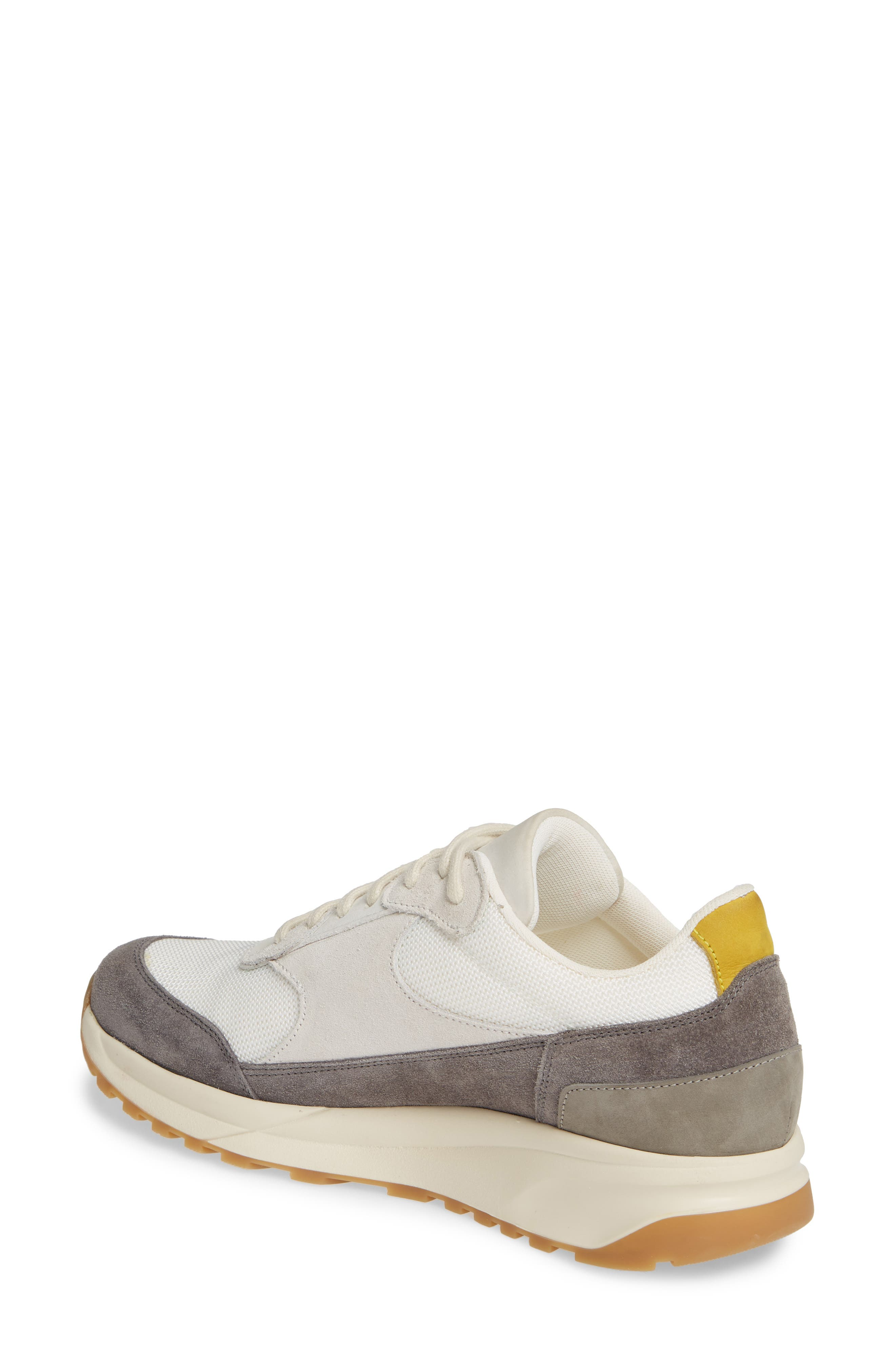 COMMON PROJECTS, New Track Sneaker, Alternate thumbnail 2, color, WHITE/ GREY