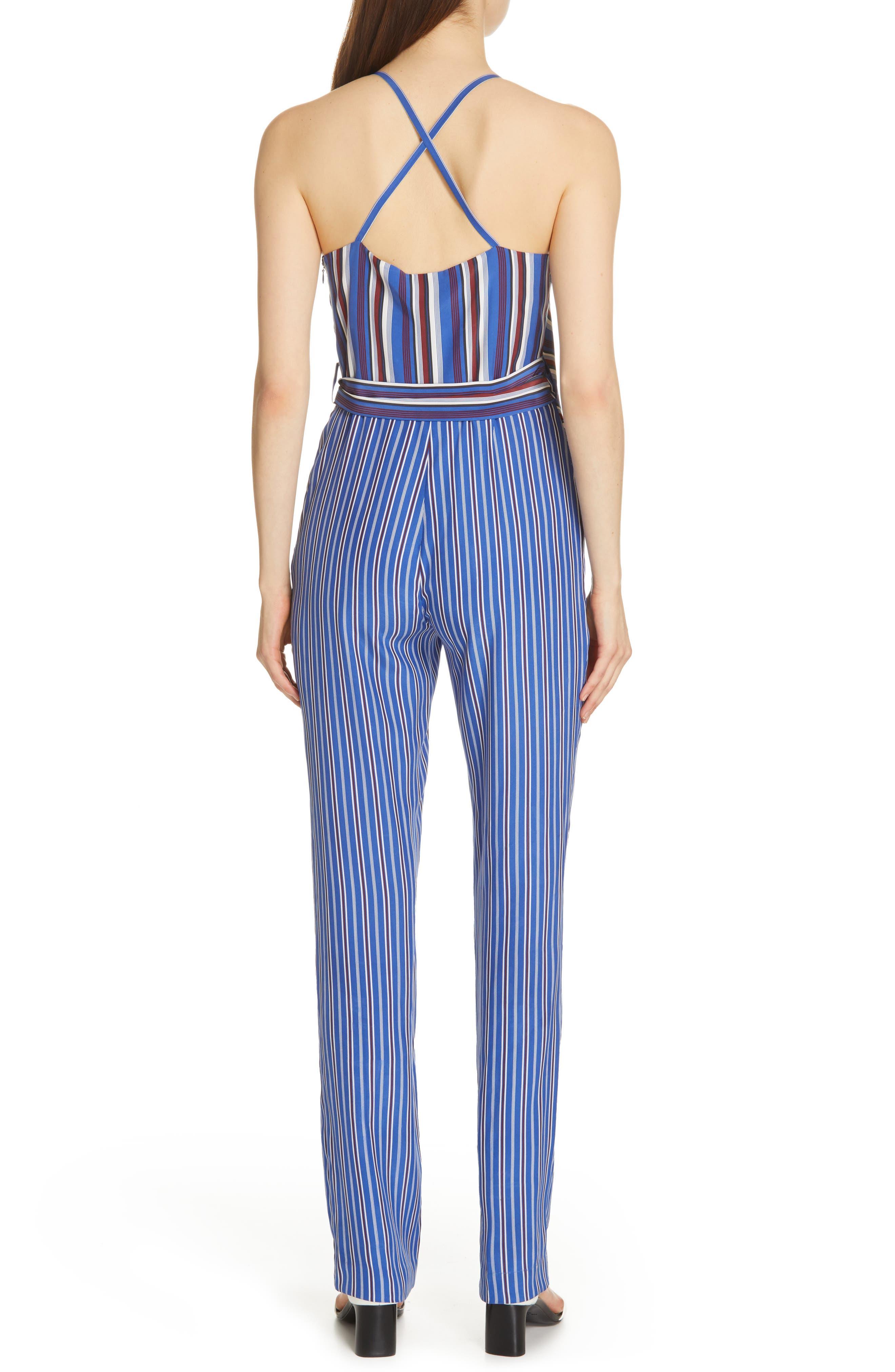 RAG & BONE, Felix Stripe Silk Jumpsuit, Alternate thumbnail 2, color, 474