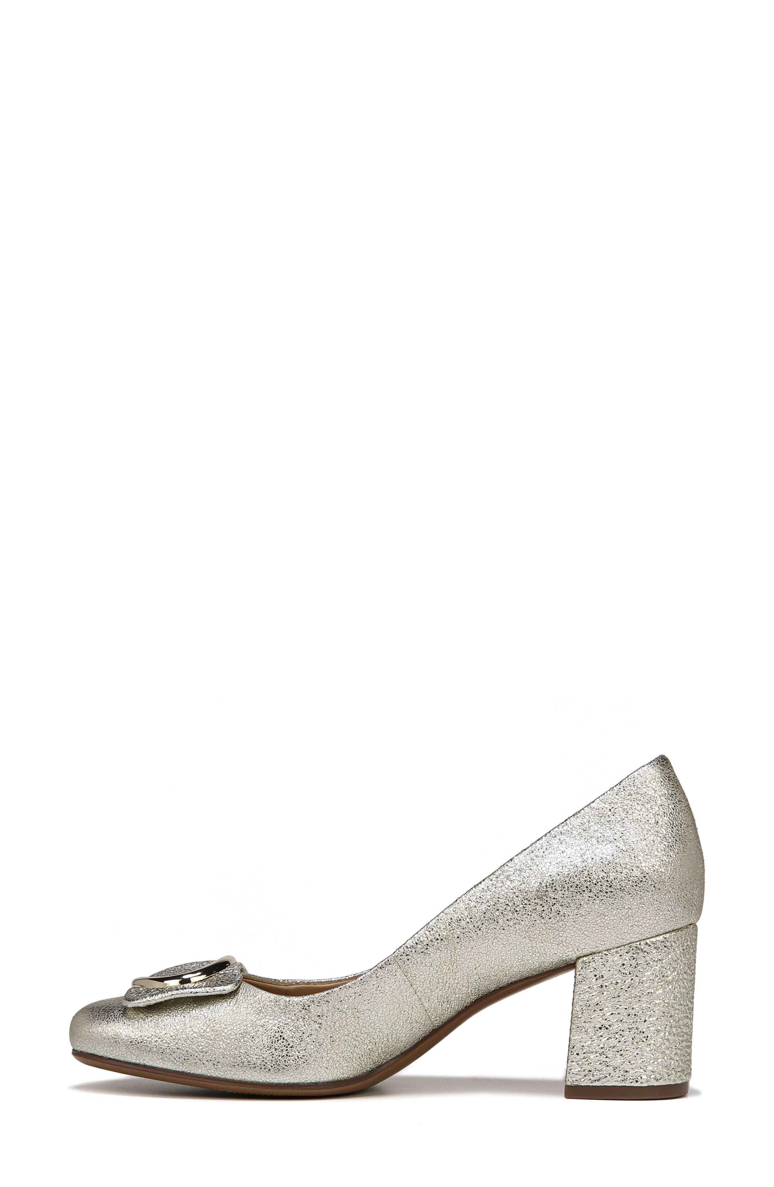 NATURALIZER, Wright Pump, Alternate thumbnail 8, color, PLATINO LEATHER