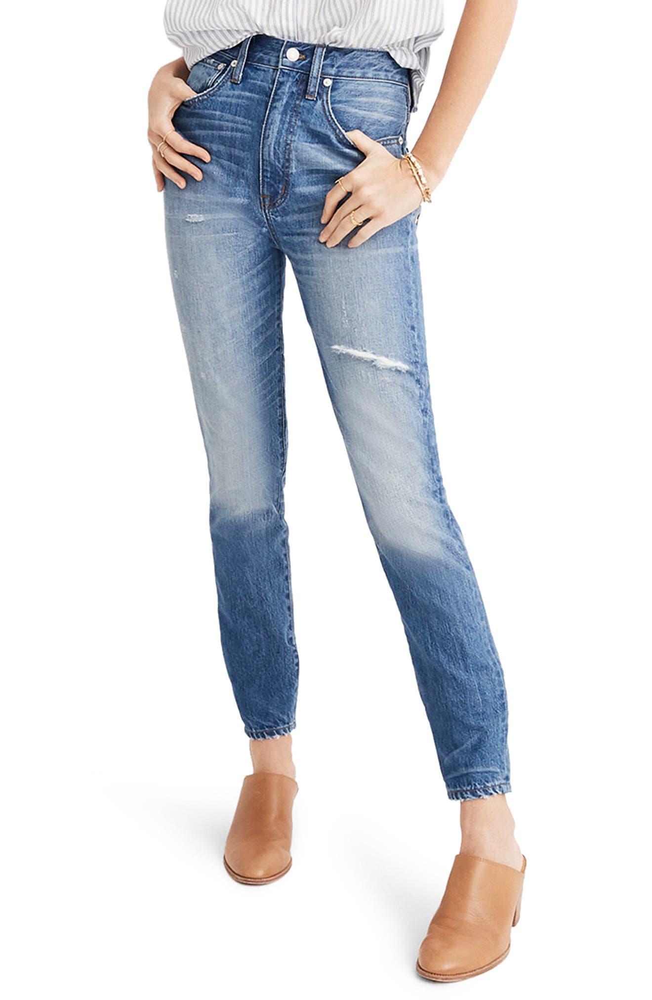 MADEWELL Rigid High Waist Skinny Jeans, Main, color, NAPA