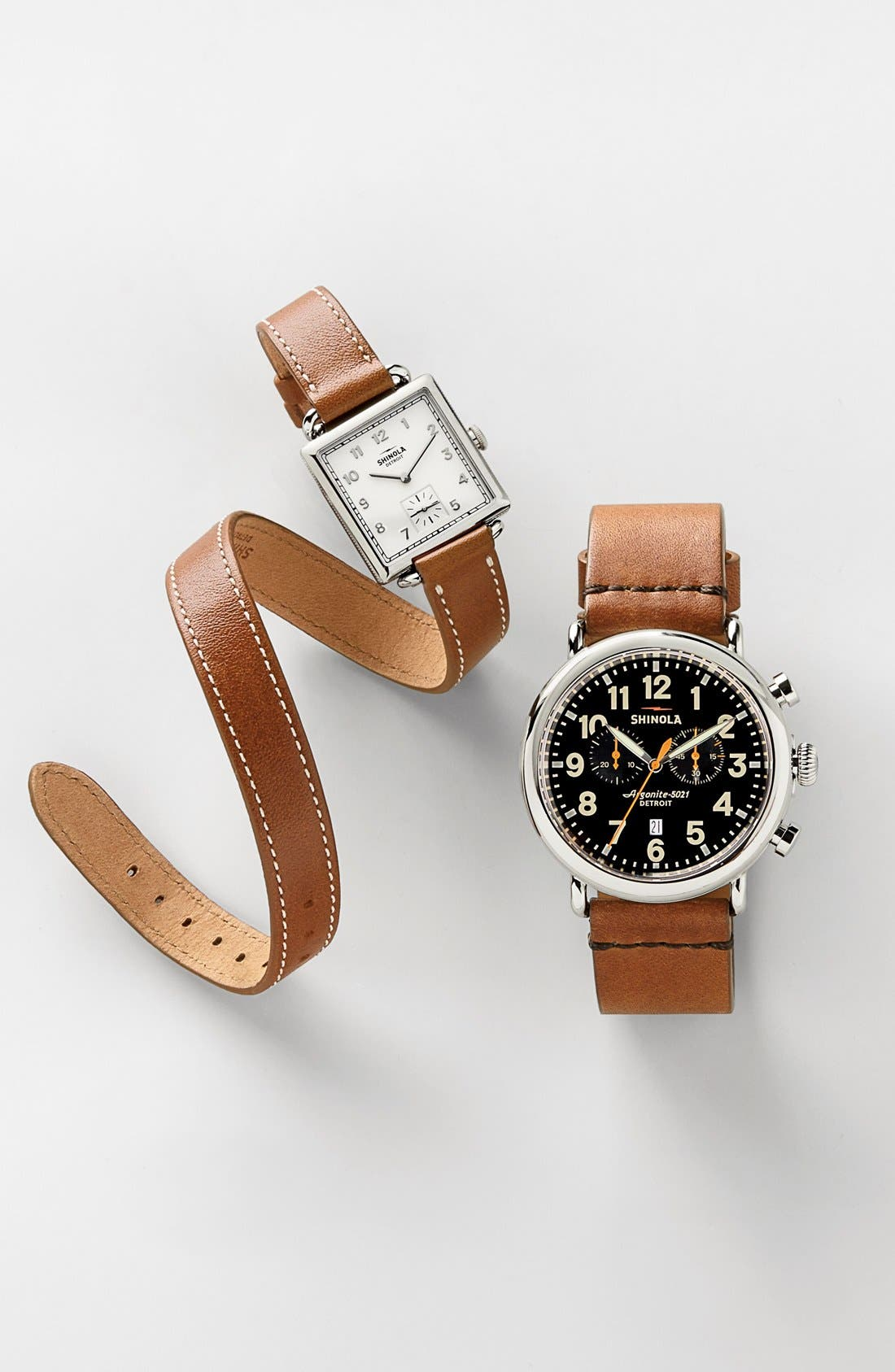 SHINOLA, Cass Leather Strap Watch, 28mm, Alternate thumbnail 5, color, GREY/ NAVY MOTHER OF PEARL
