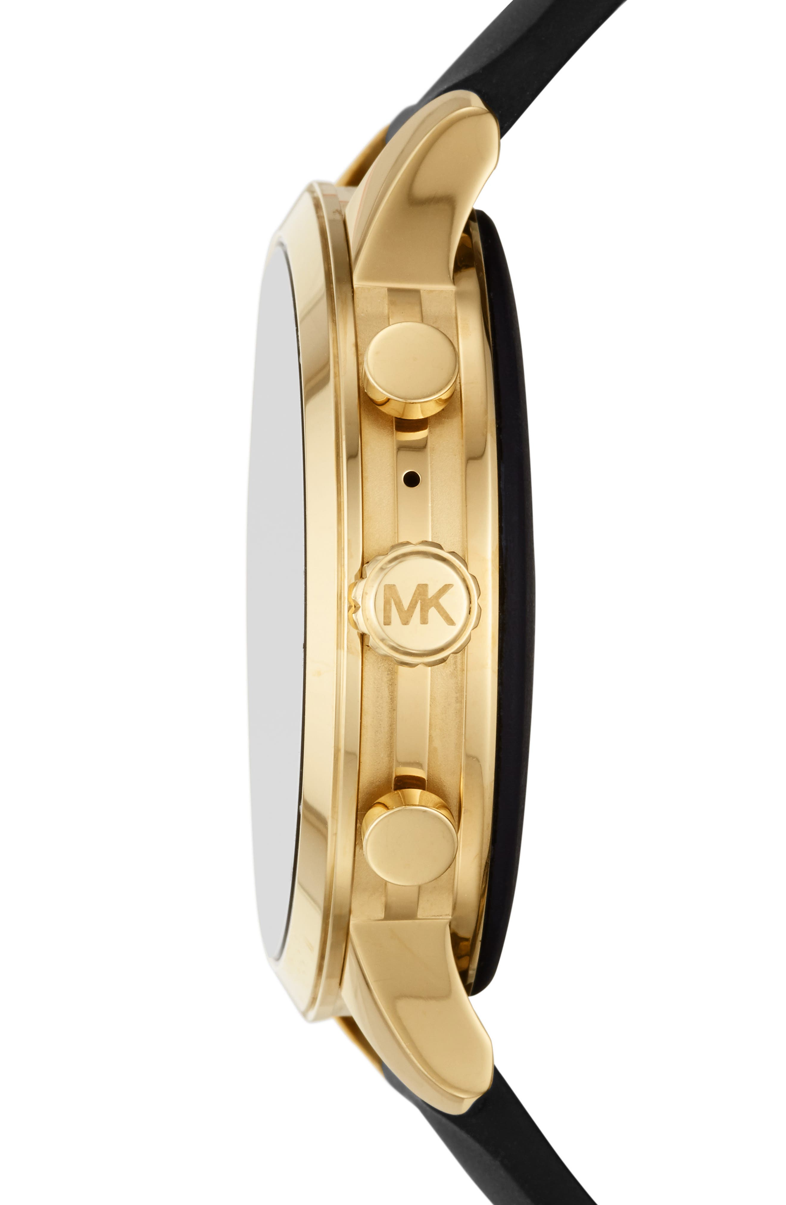 MICHAEL KORS, MICHAEL Michael Kors Access Runway Smart Watch, 41mm, Alternate thumbnail 3, color, BLACK/ GOLD