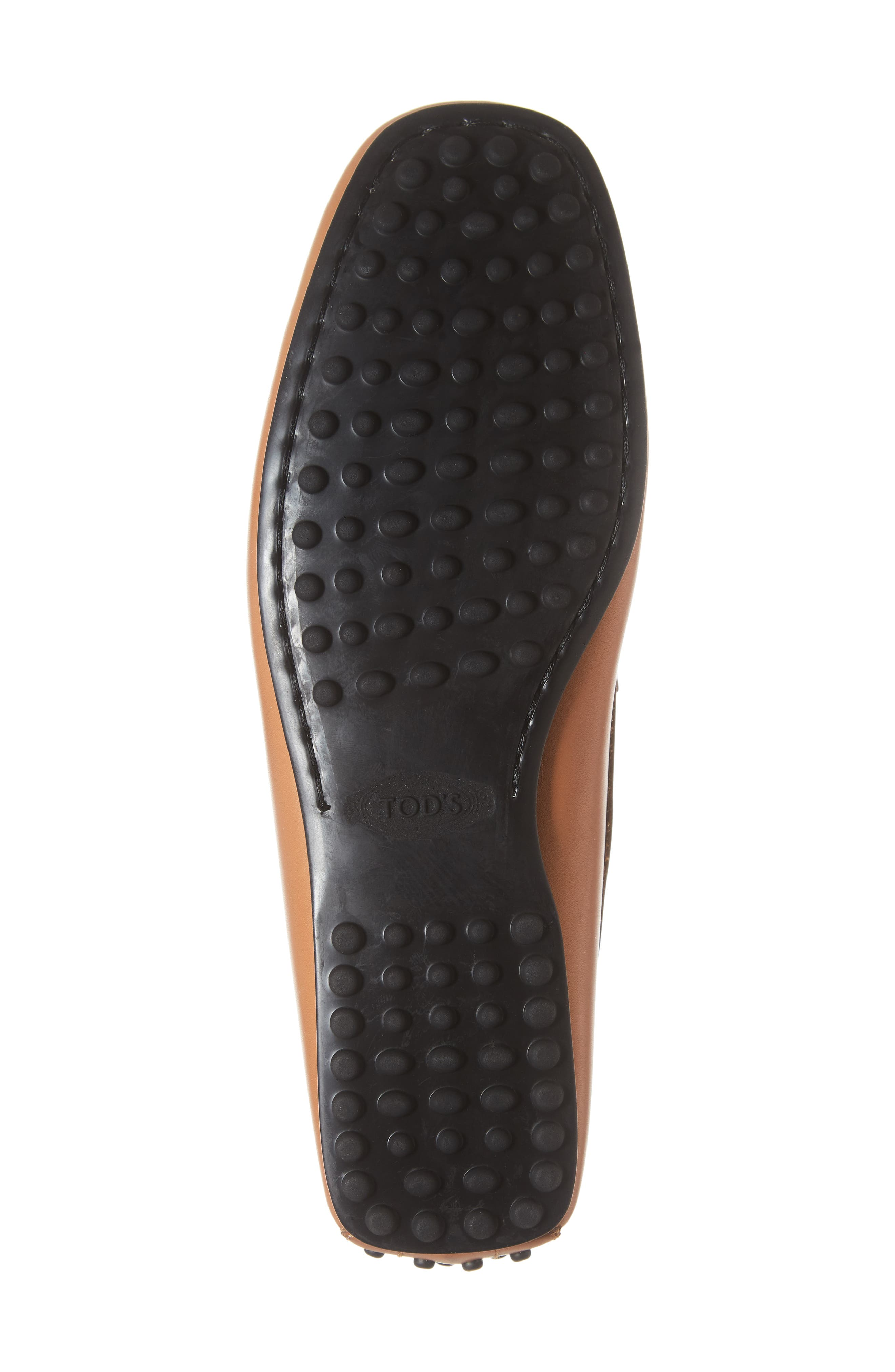 TOD'S, 'City' Penny Driving Shoe, Alternate thumbnail 6, color, BROWN/BROWN