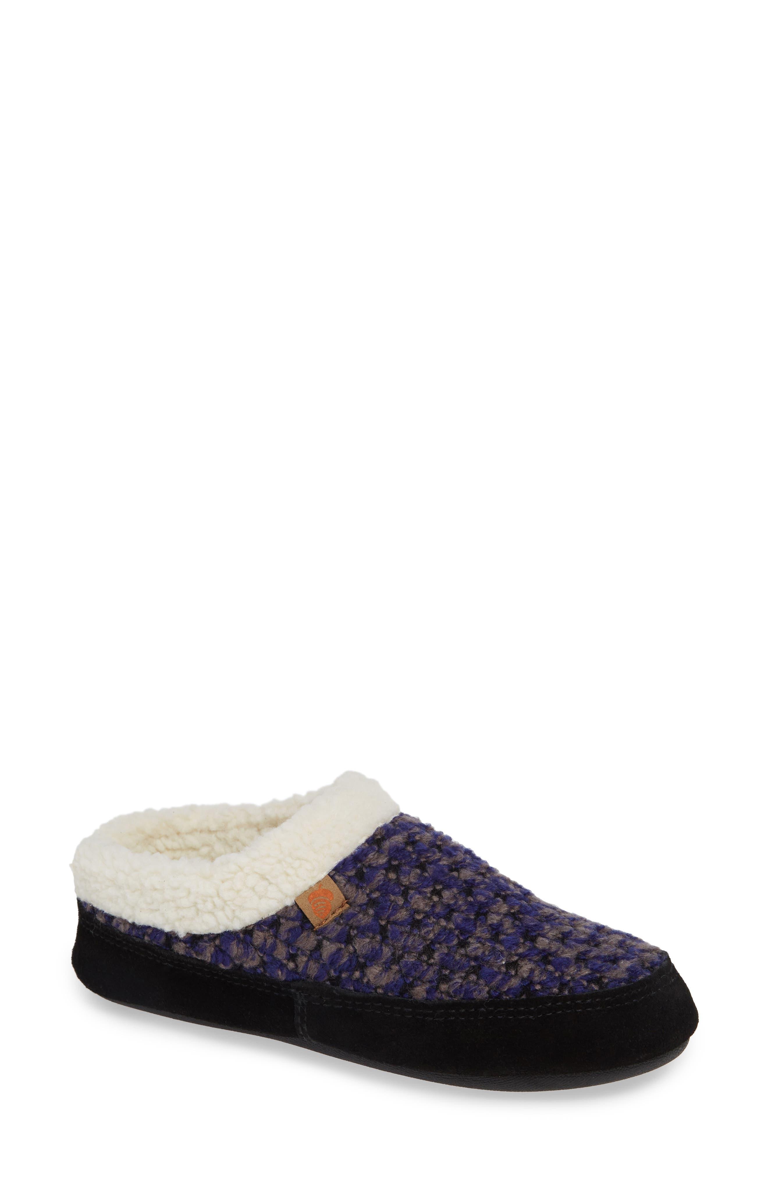 ACORN The Jam Mule Slipper, Main, color, BLUEBERRY FABRIC