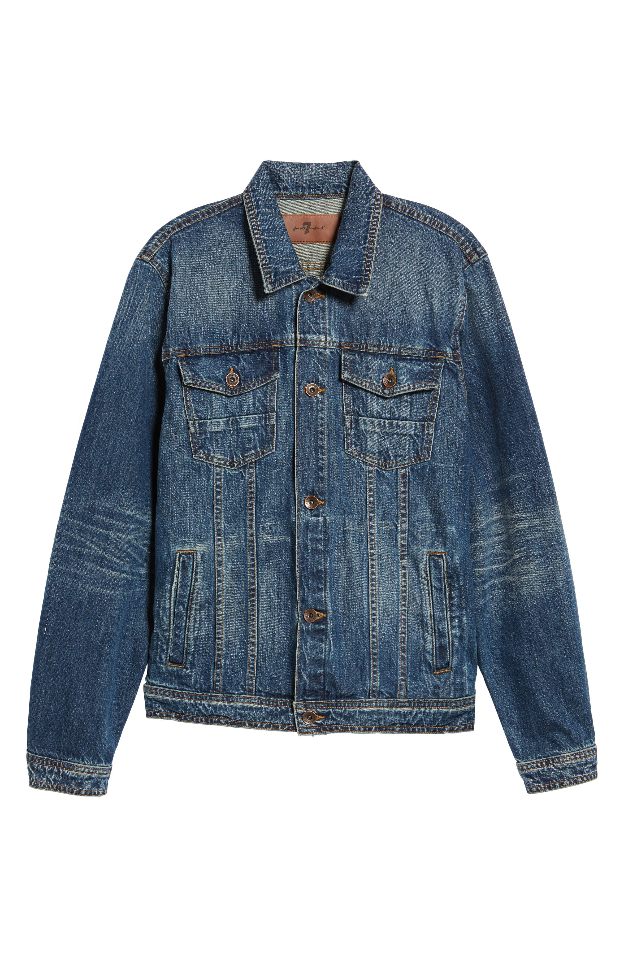7 FOR ALL MANKIND<SUP>®</SUP>, Trucker Jacket, Alternate thumbnail 5, color, LEGEND