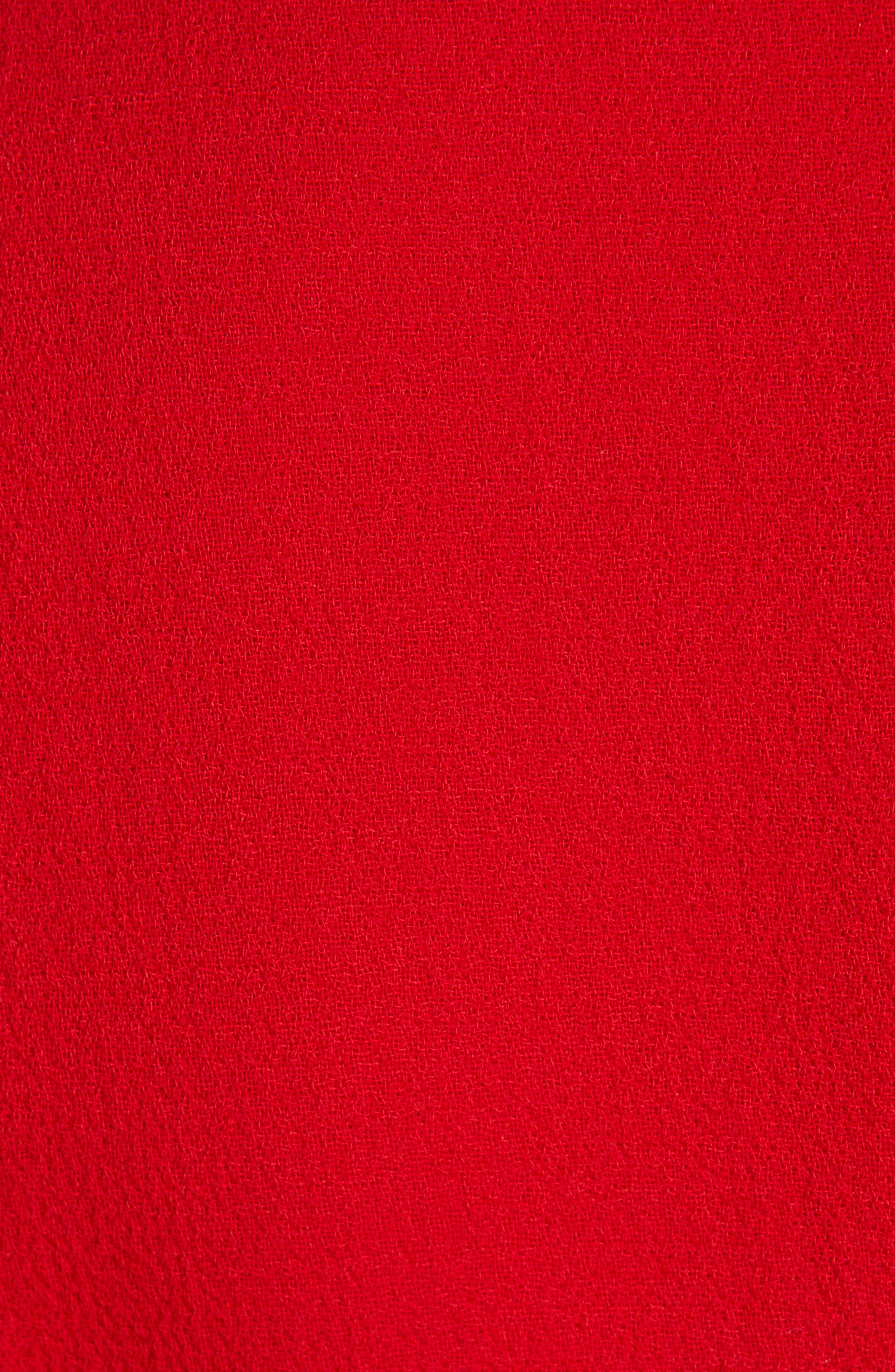 BRANDON MAXWELL, Flutter Sleeve Top, Alternate thumbnail 5, color, RED