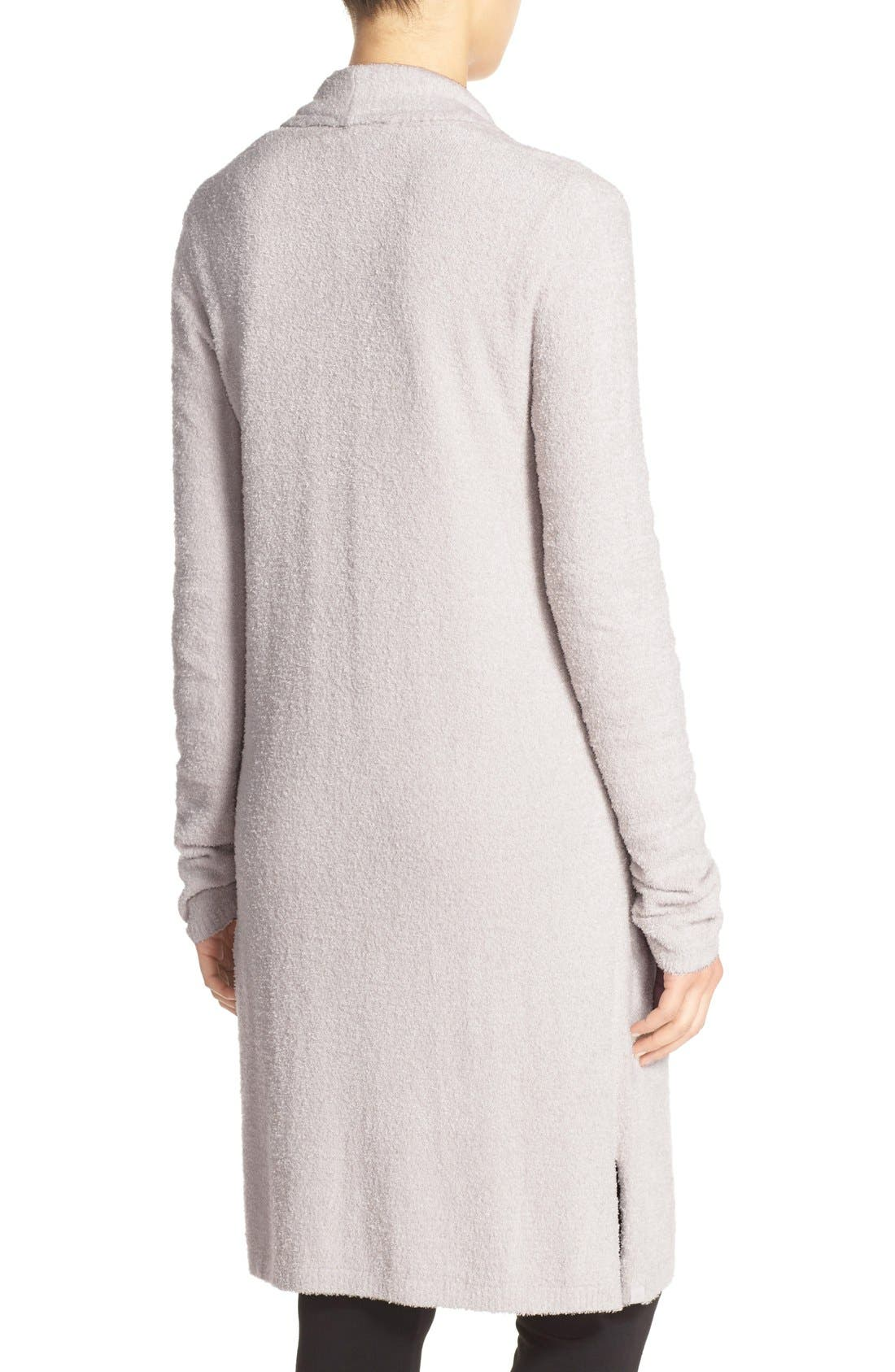 BAREFOOT DREAMS<SUP>®</SUP>, CozyChic Lite<sup>®</sup> Long Essential Cardigan, Alternate thumbnail 2, color, 020