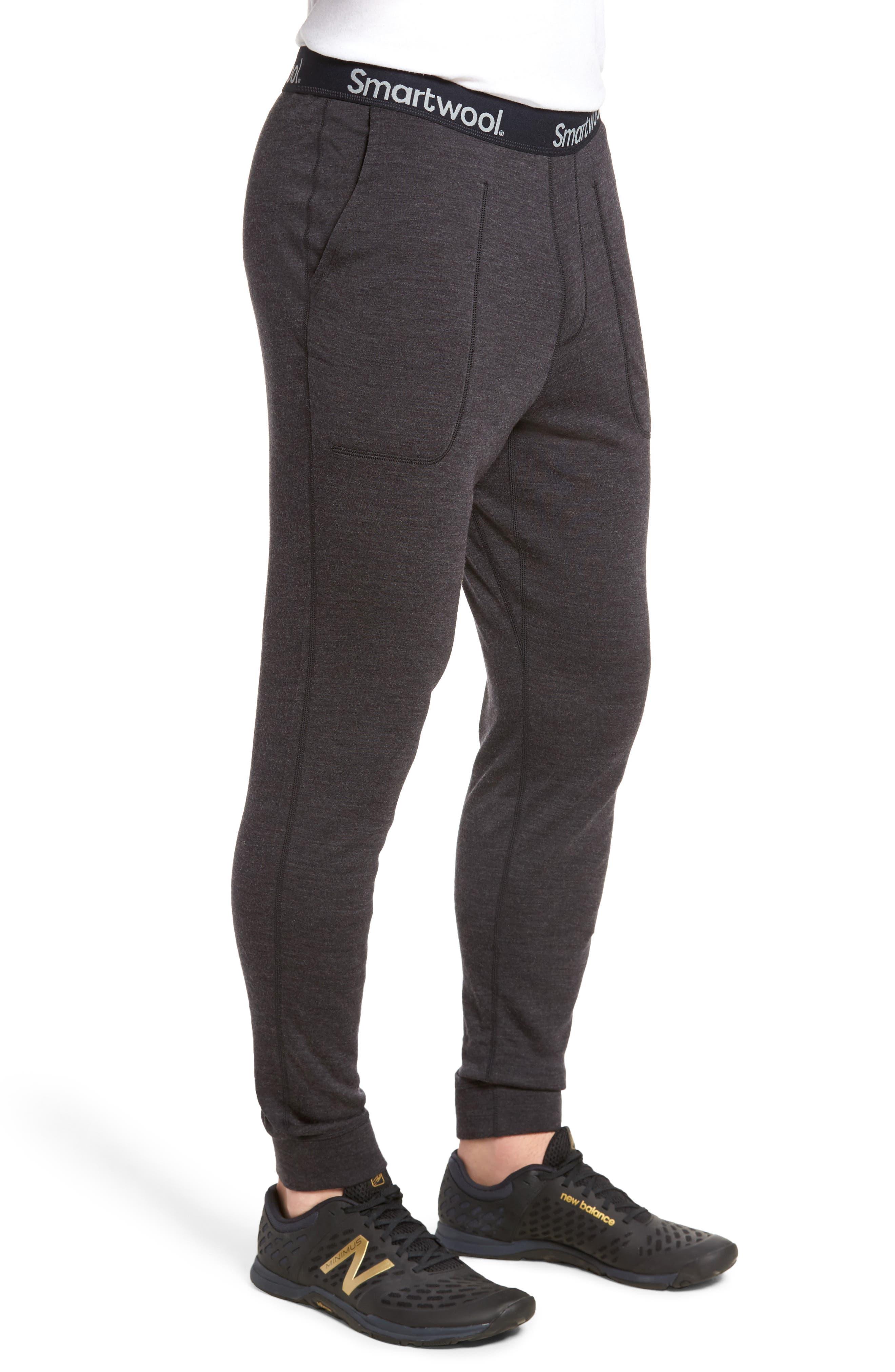 SMARTWOOL, 250 Merino Wool Jogger Pants, Alternate thumbnail 3, color, CHARCOAL