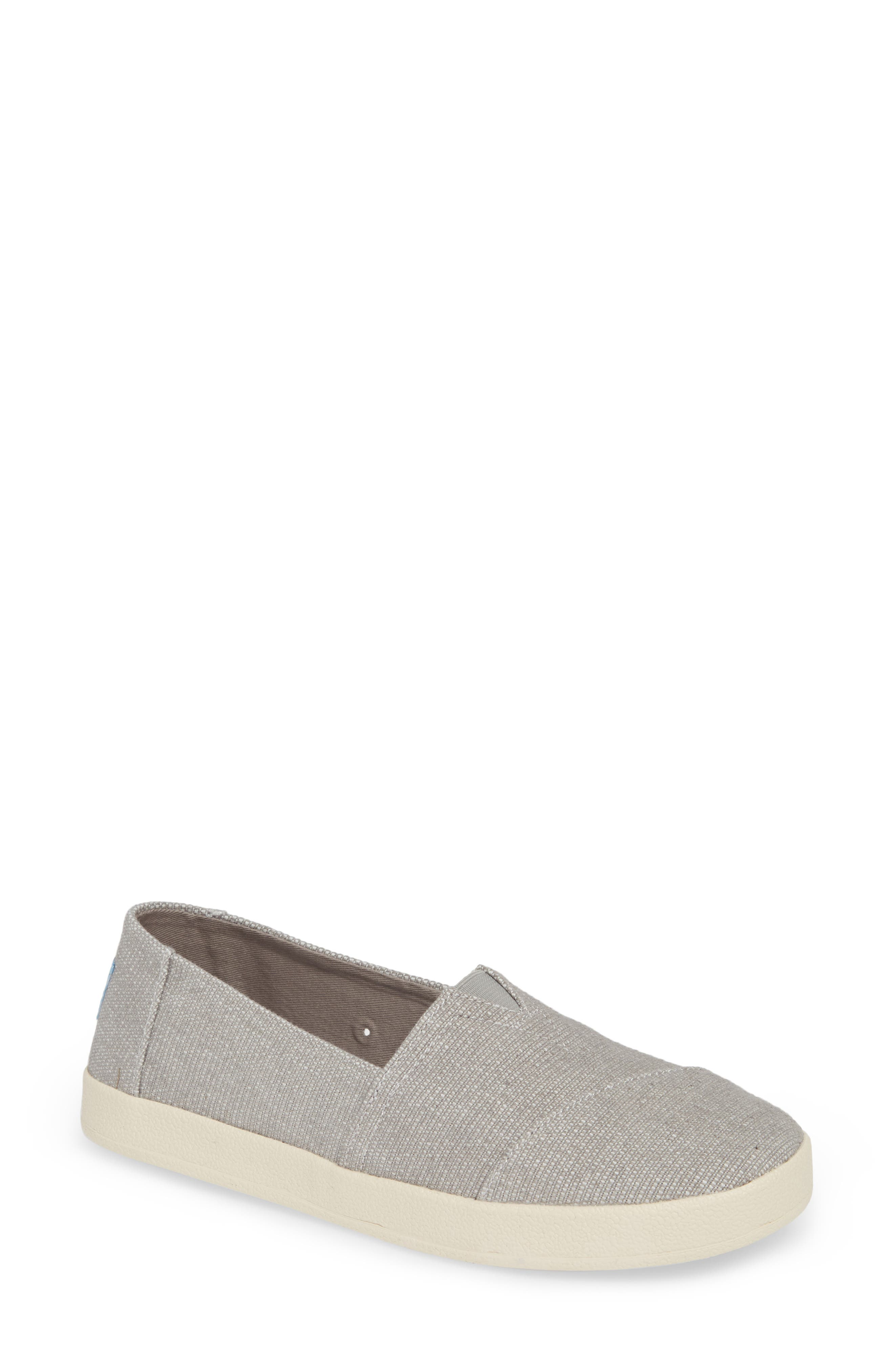 TOMS, Avalon Slip-On Sneaker, Main thumbnail 1, color, DRIZZLE GREY CANVAS