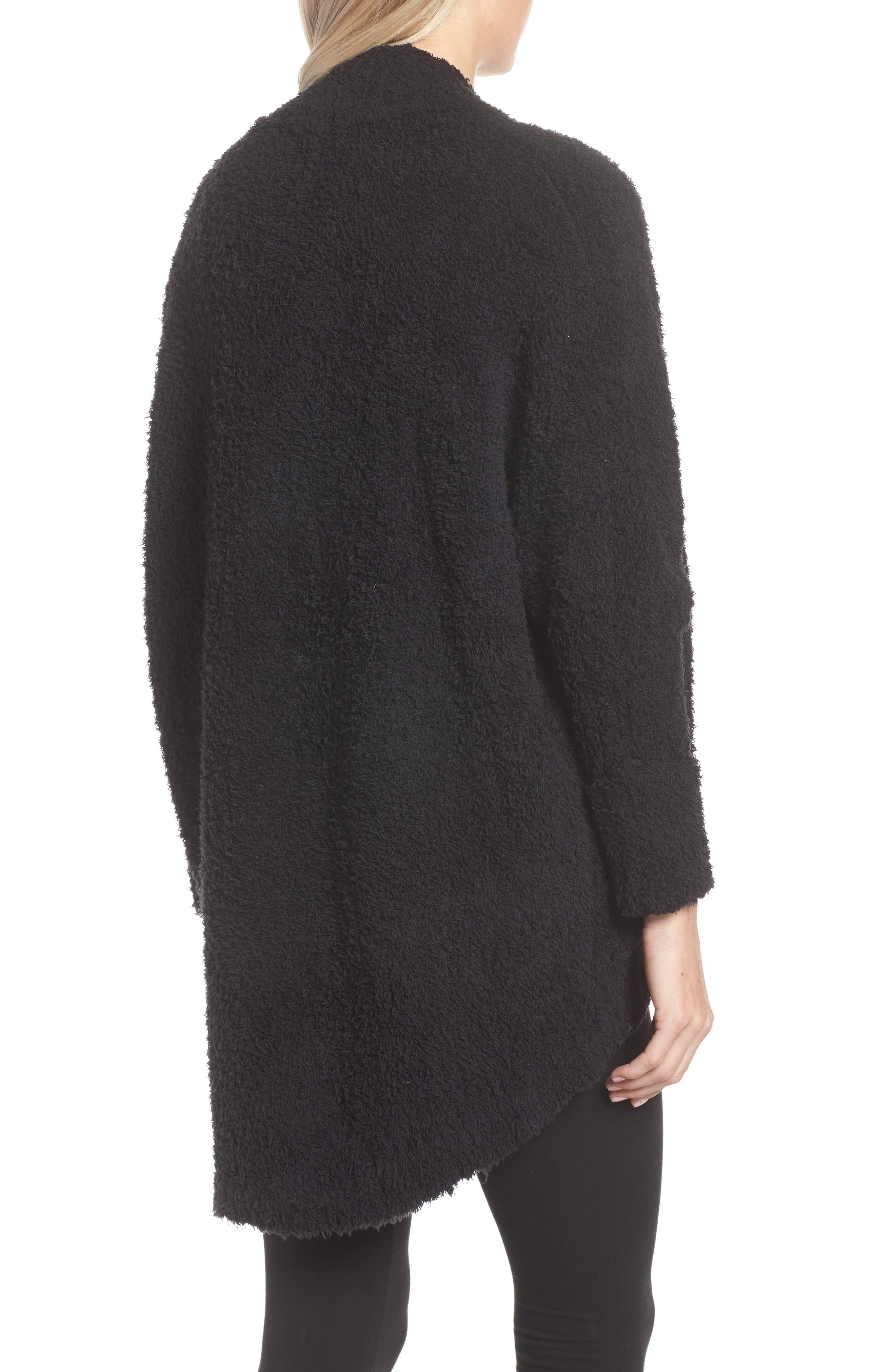 BAREFOOT DREAMS<SUP>®</SUP>, CozyChic<sup>®</sup> Cocoon Cardigan, Alternate thumbnail 2, color, BLACK