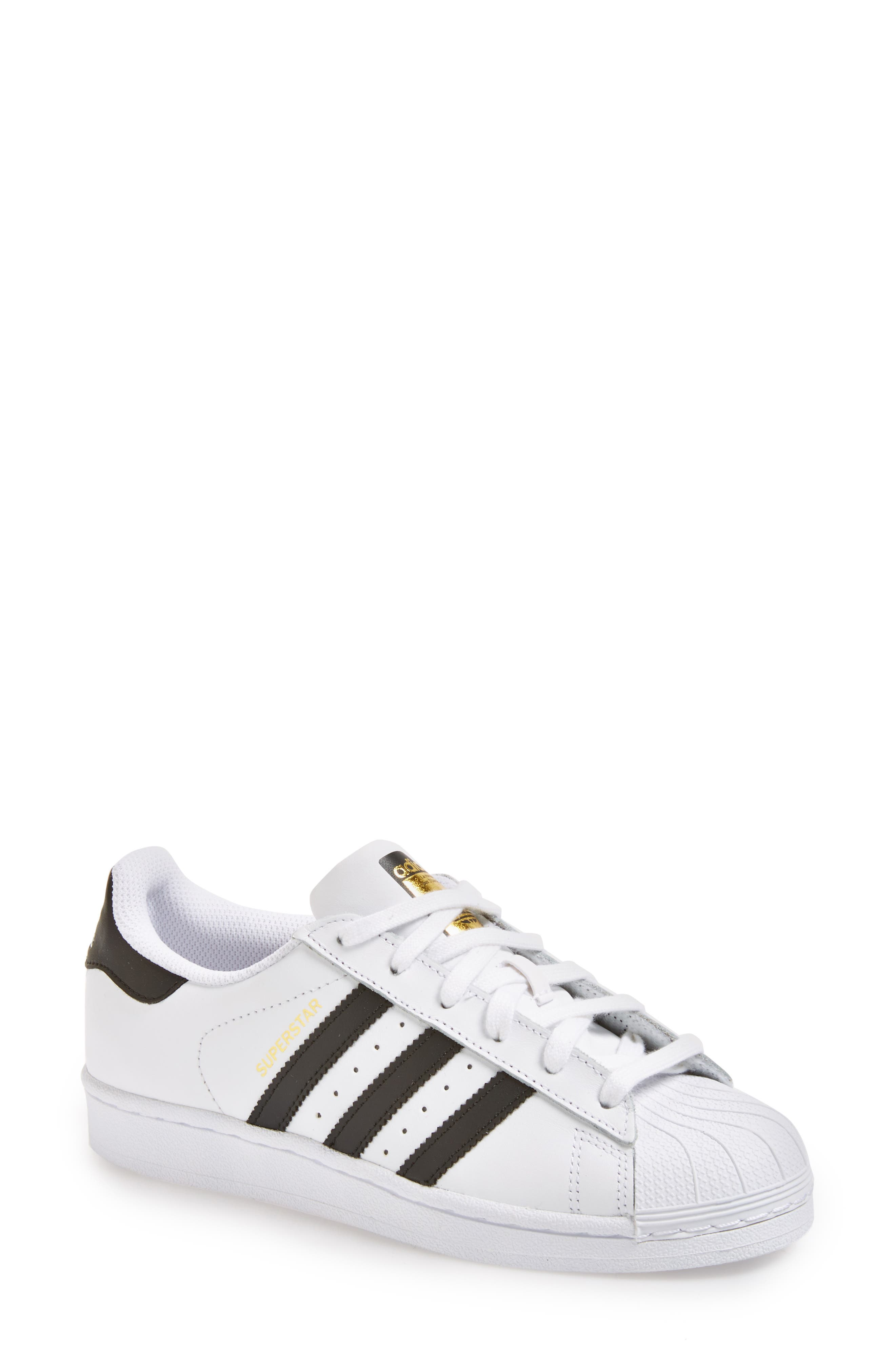 ADIDAS, Superstar Sneaker, Main thumbnail 1, color, WHITE/ BLACK
