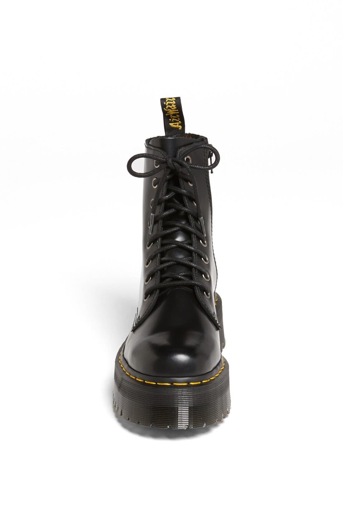 DR. MARTENS, 'Jadon' Boot, Alternate thumbnail 3, color, BLACK