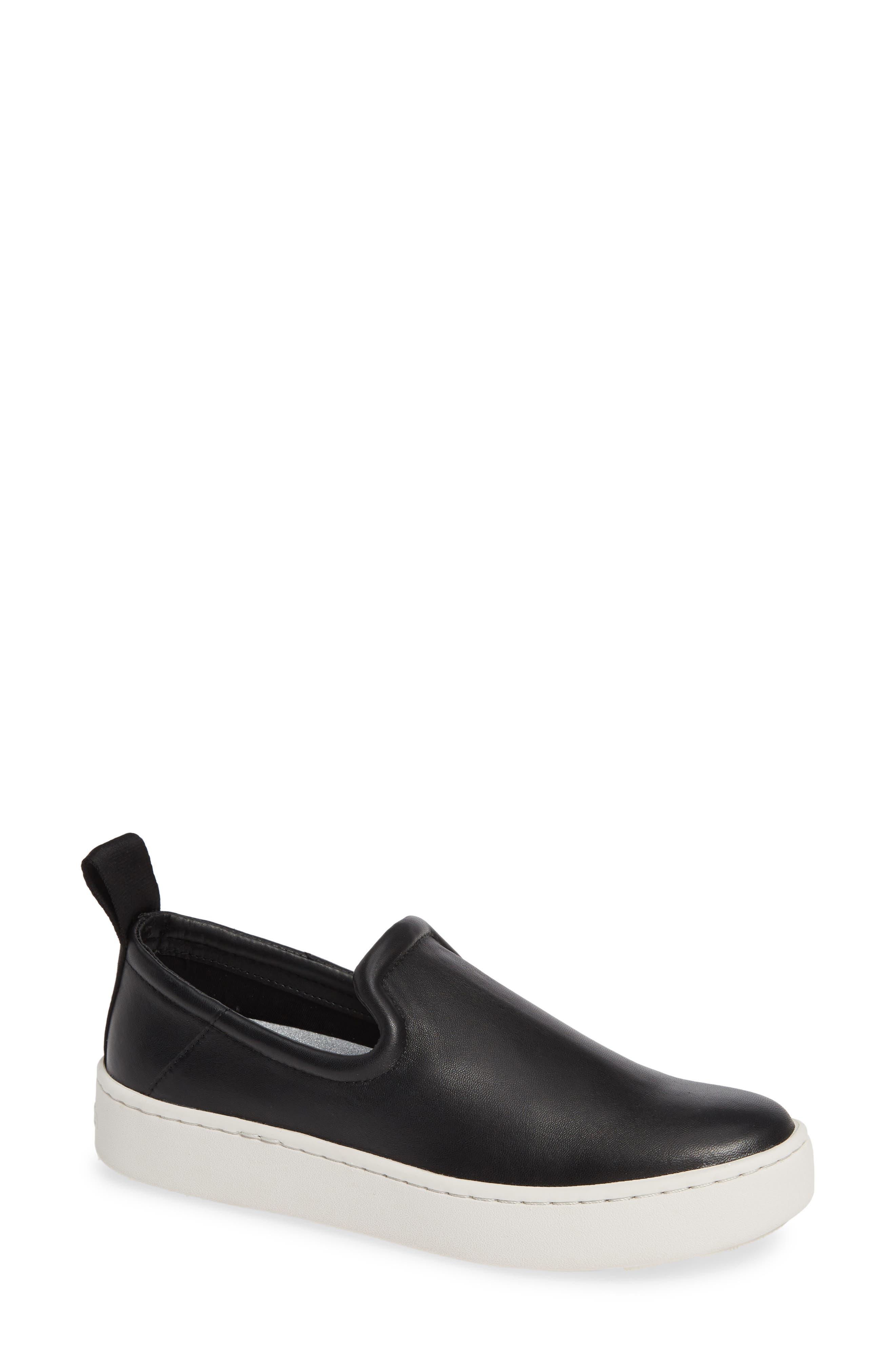 DOLCE VITA Tag Slip-On Sneaker, Main, color, BLACK LEATHER