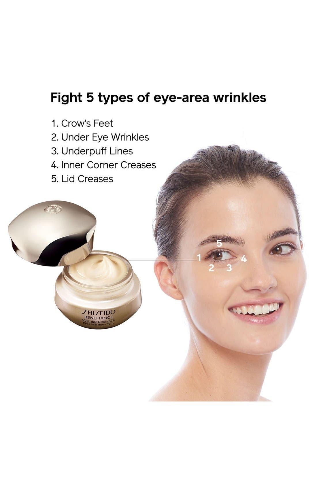 SHISEIDO, Benefiance WrinkleResist24 Intensive Eye Contour Cream, Alternate thumbnail 7, color, NO COLOR