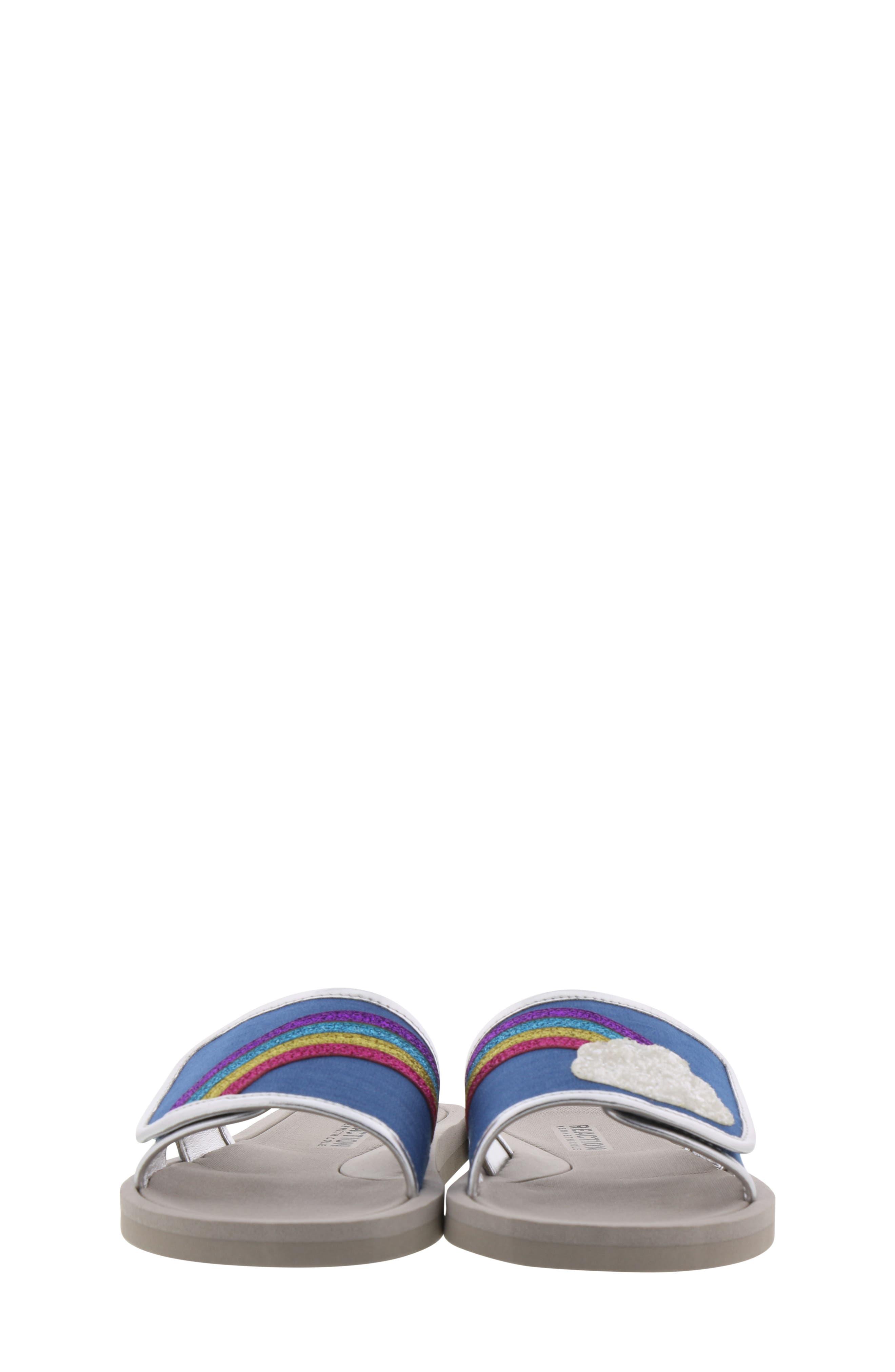 REACTION KENNETH COLE, Elise Karla Rainbow Slide Sandal, Alternate thumbnail 4, color, DENIM