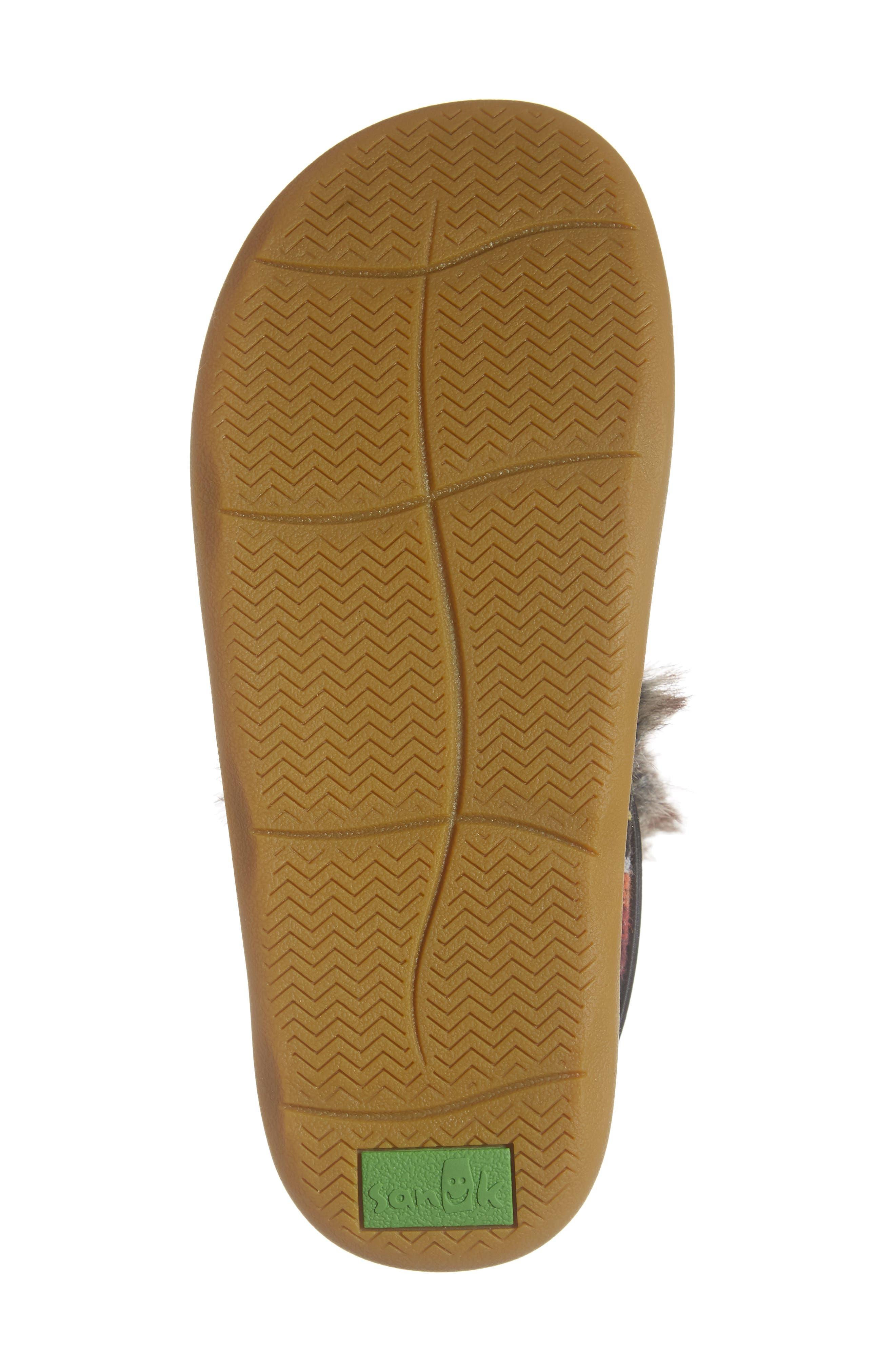 SANUK, Tripper Flurry Faux Fur Boot, Alternate thumbnail 6, color, BLACK