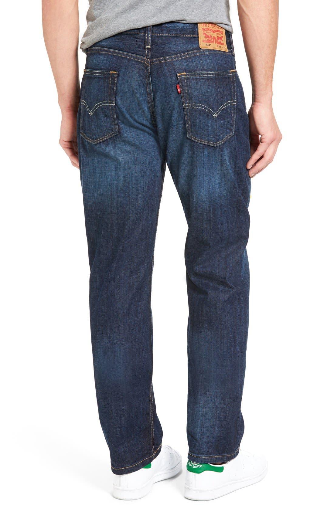 LEVI'S<SUP>®</SUP>, 514<sup>™</sup> Straight Leg Jeans, Alternate thumbnail 5, color, SHOESTRING