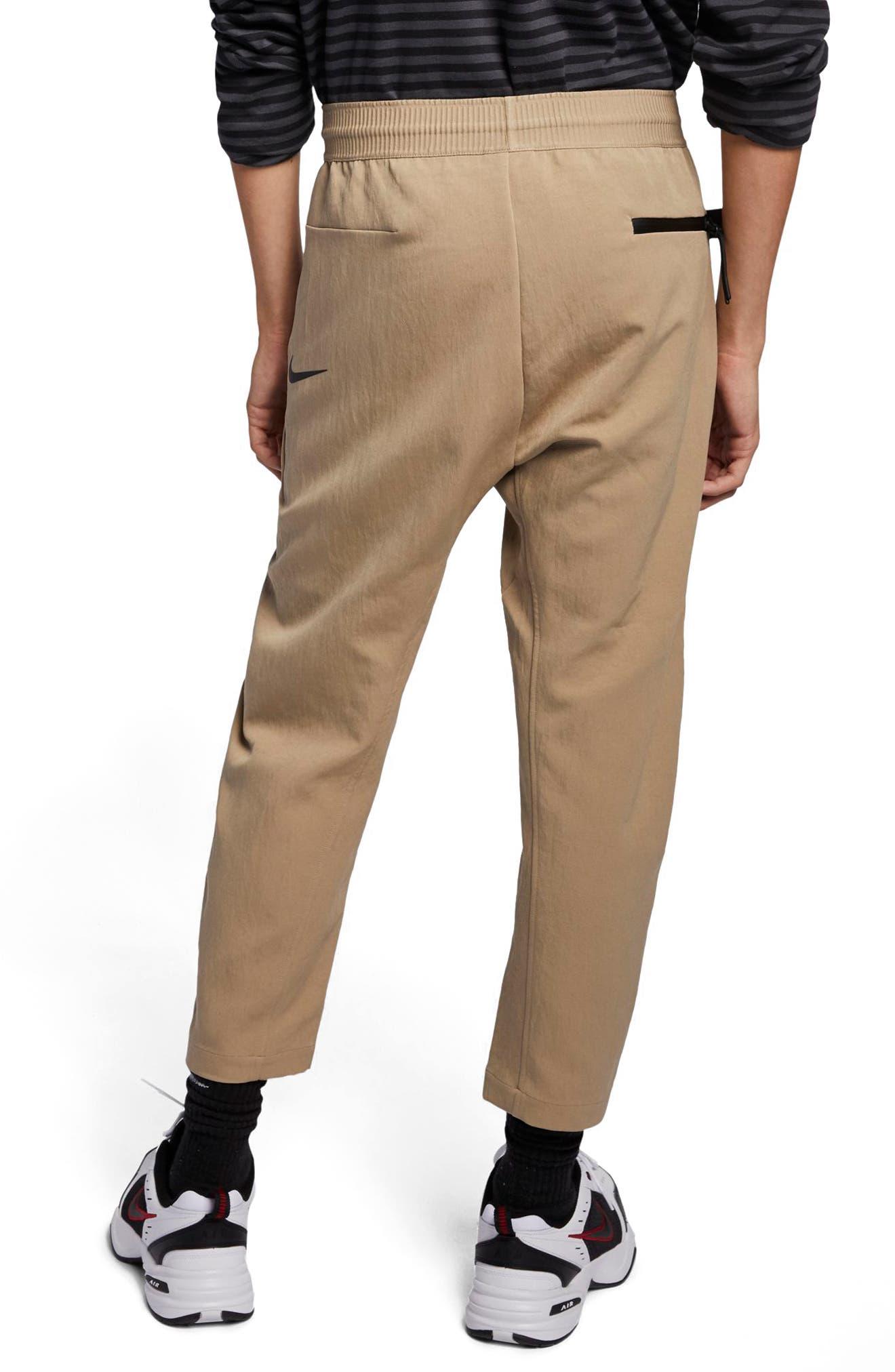 NIKE, Sportswear Tech Pack Men's Crop Woven Pants, Alternate thumbnail 2, color, KHAKI/ KHAKI/ BLACK