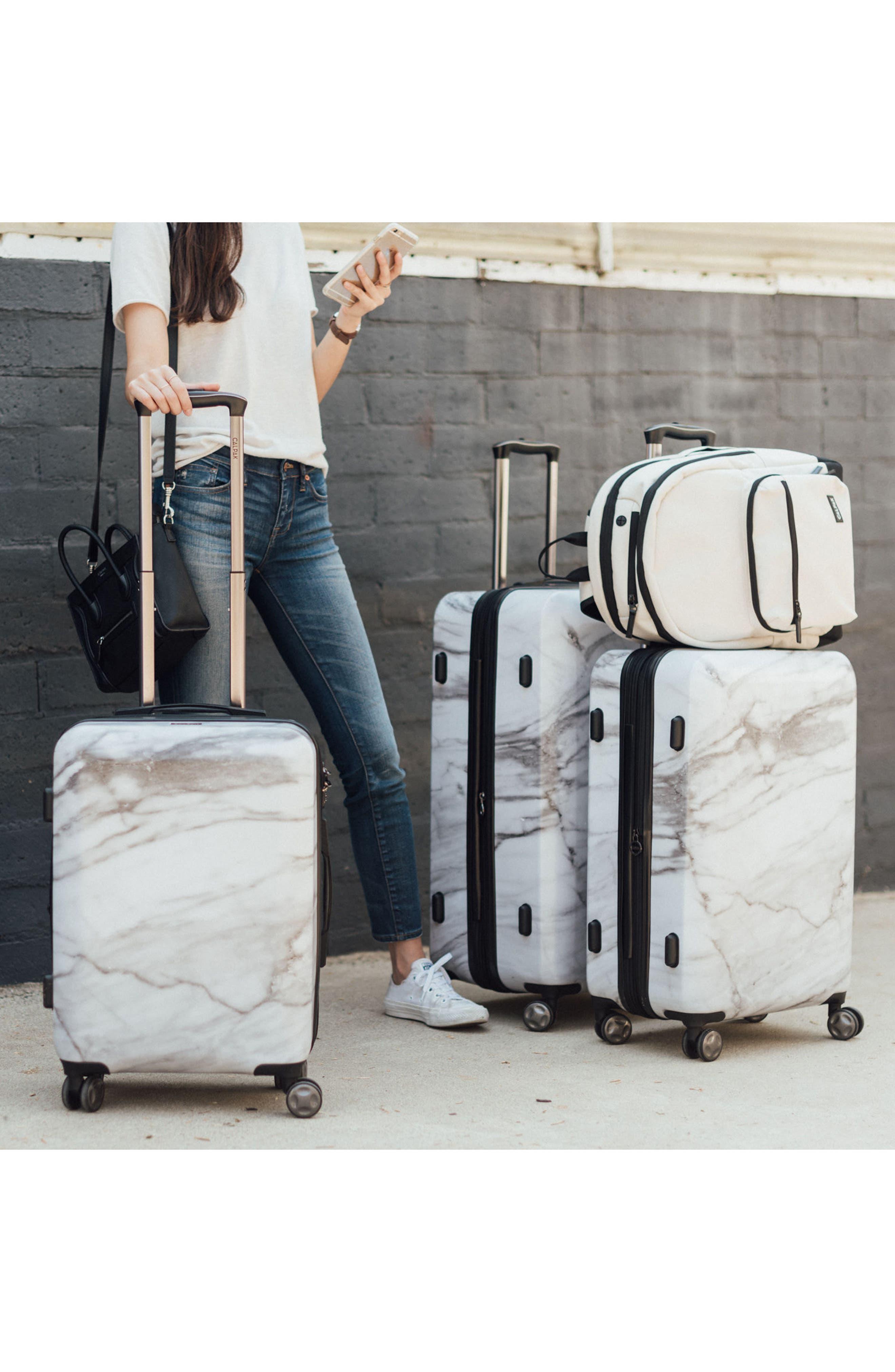 CALPAK, Astyll 22-Inch & 30-Inch Spinner Luggage Set, Alternate thumbnail 5, color, MILK MARBLE