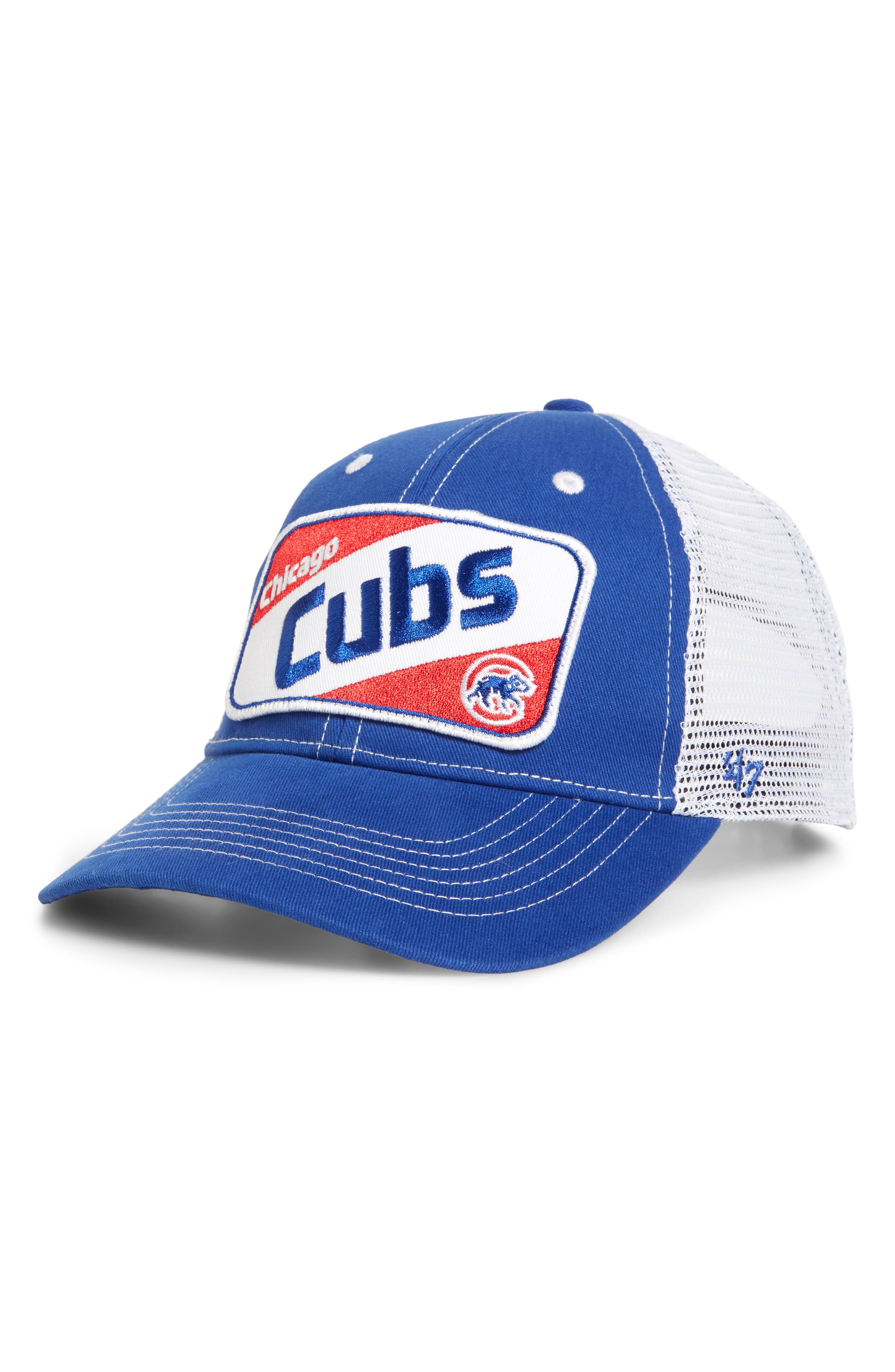 '47, Woodlawn Chicago Cubs Trucker Hat, Main thumbnail 1, color, ROYAL