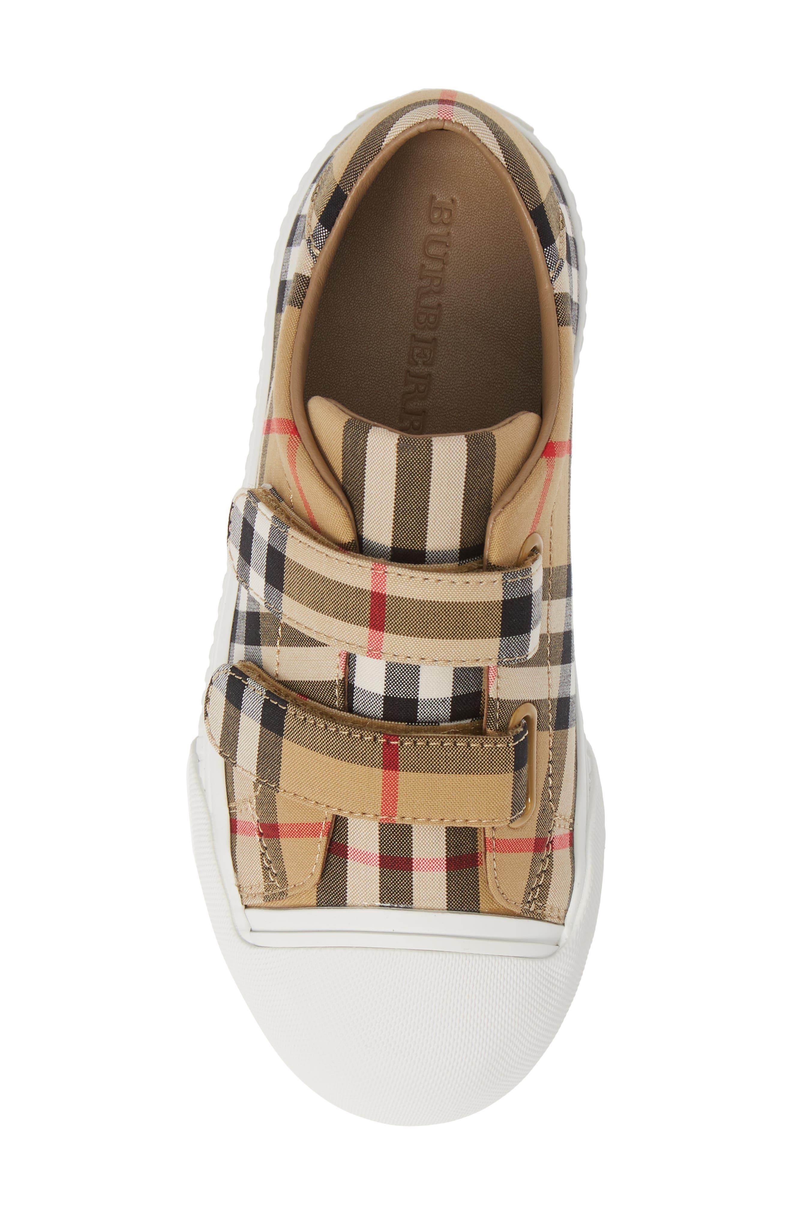 BURBERRY, Belside Sneaker, Alternate thumbnail 5, color, ANTIQUE YELLOW-OPTIC WHITE