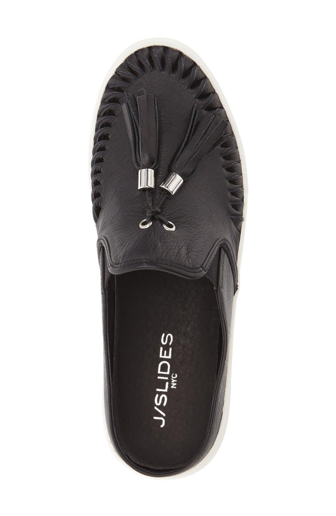 JSLIDES, Tassel Slip-On Sneaker, Alternate thumbnail 4, color, 015