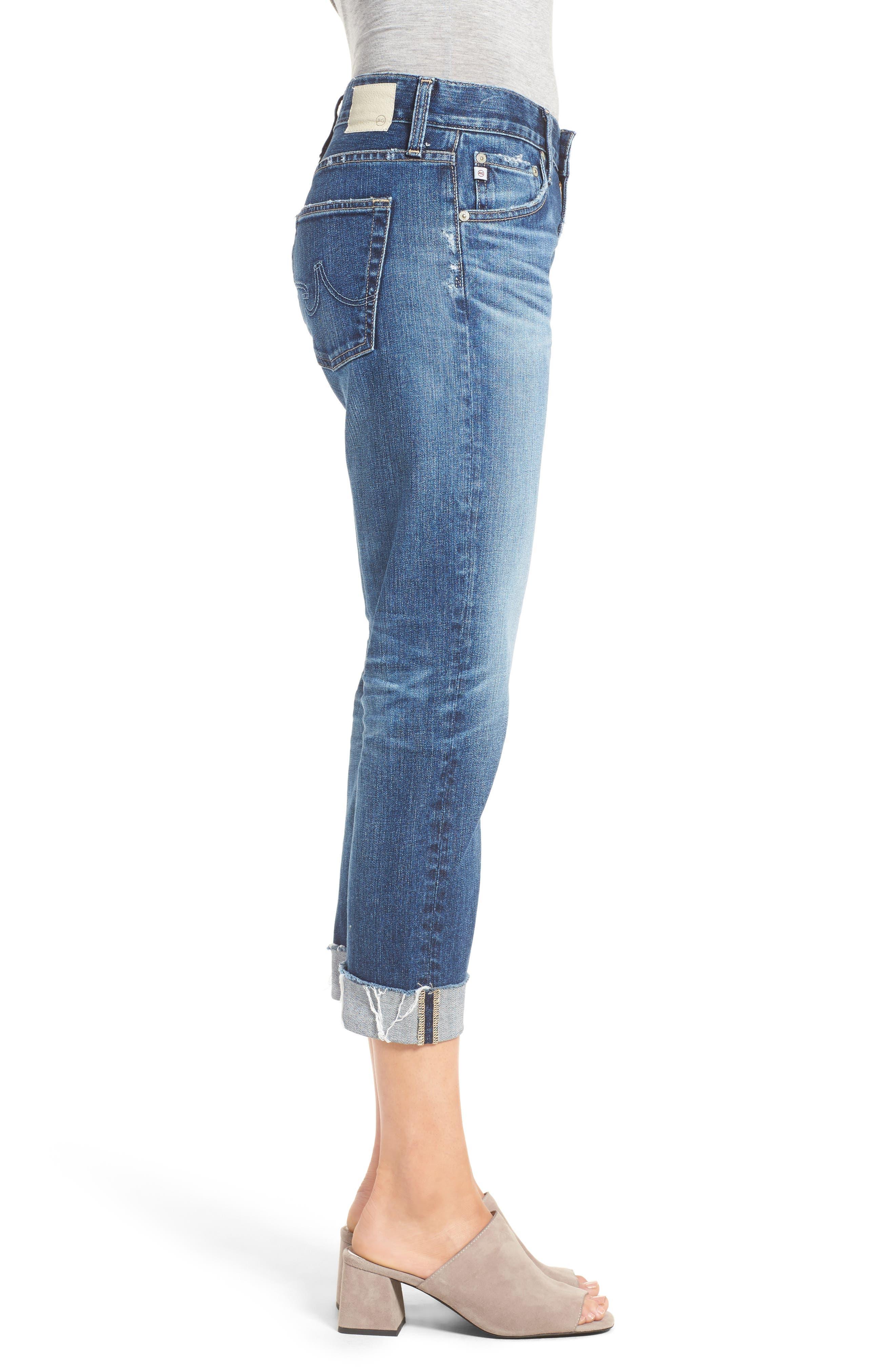 AG, The Ex Boyfriend Crop Jeans, Alternate thumbnail 4, color, 12 YEARS BLUE AURA