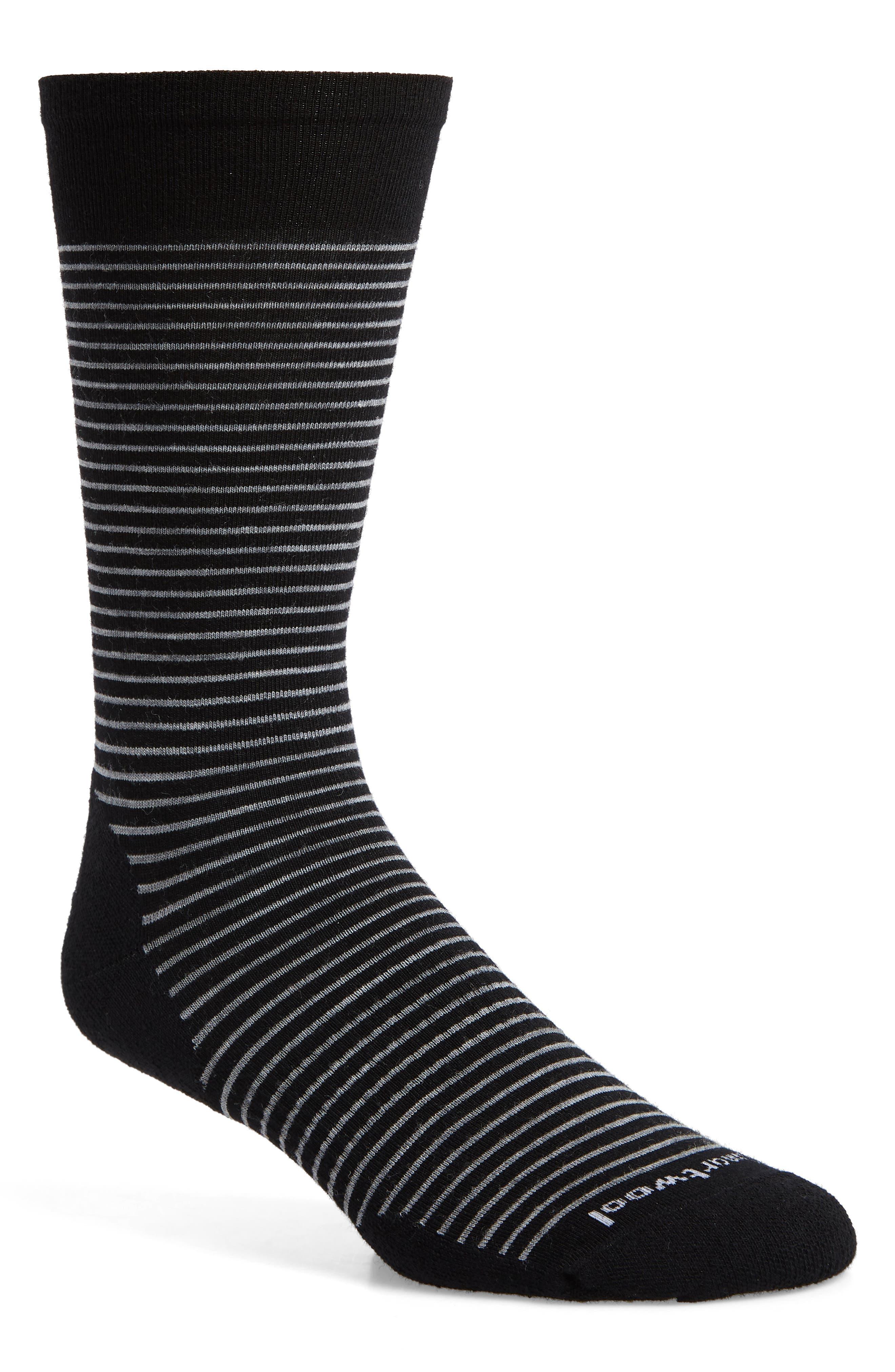 SMARTWOOL Flying J Stripe Socks, Main, color, 001