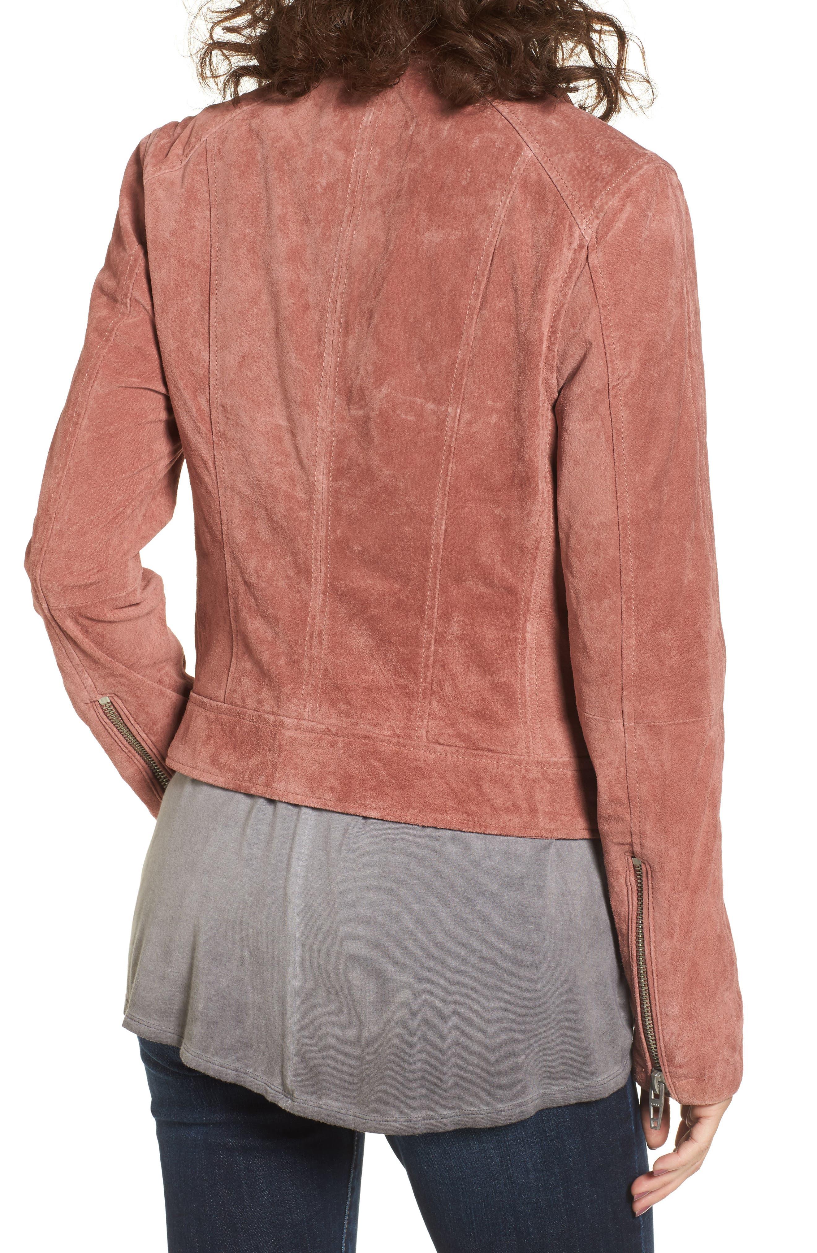 BLANKNYC, Suede Moto Jacket, Alternate thumbnail 2, color, 201