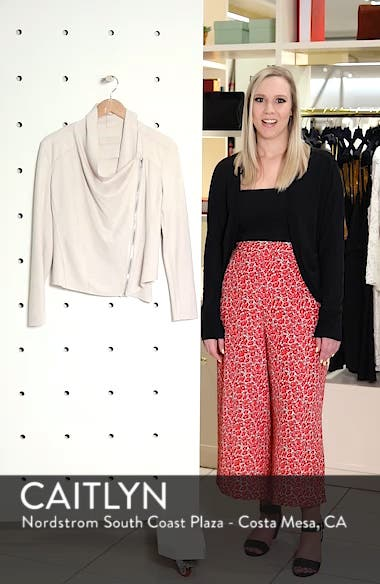Drape Front Faux Suede Jacket, sales video thumbnail