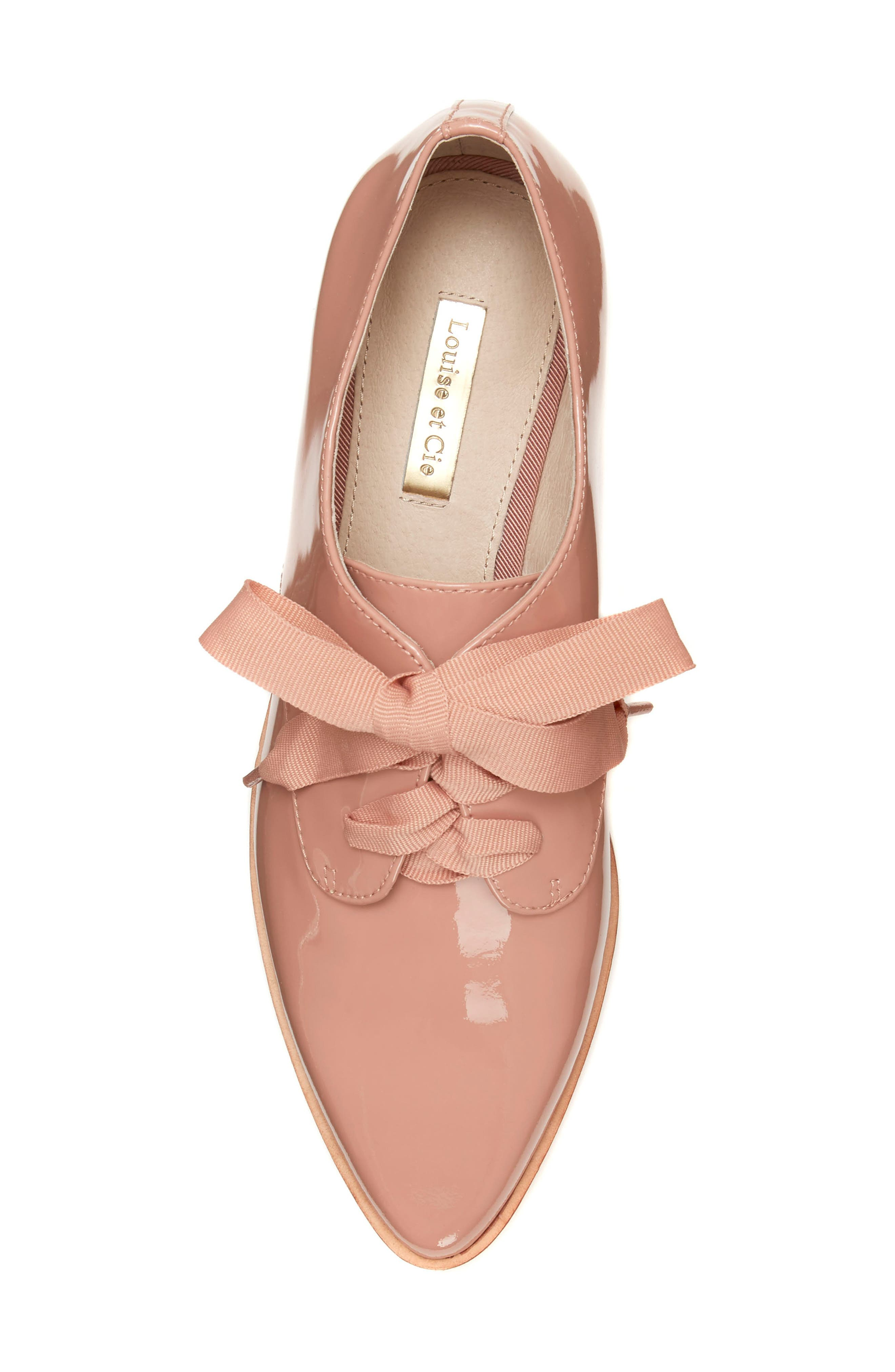 LOUISE ET CIE, Adwin Almond Toe Oxford, Alternate thumbnail 5, color, FOUNDATION PATENT