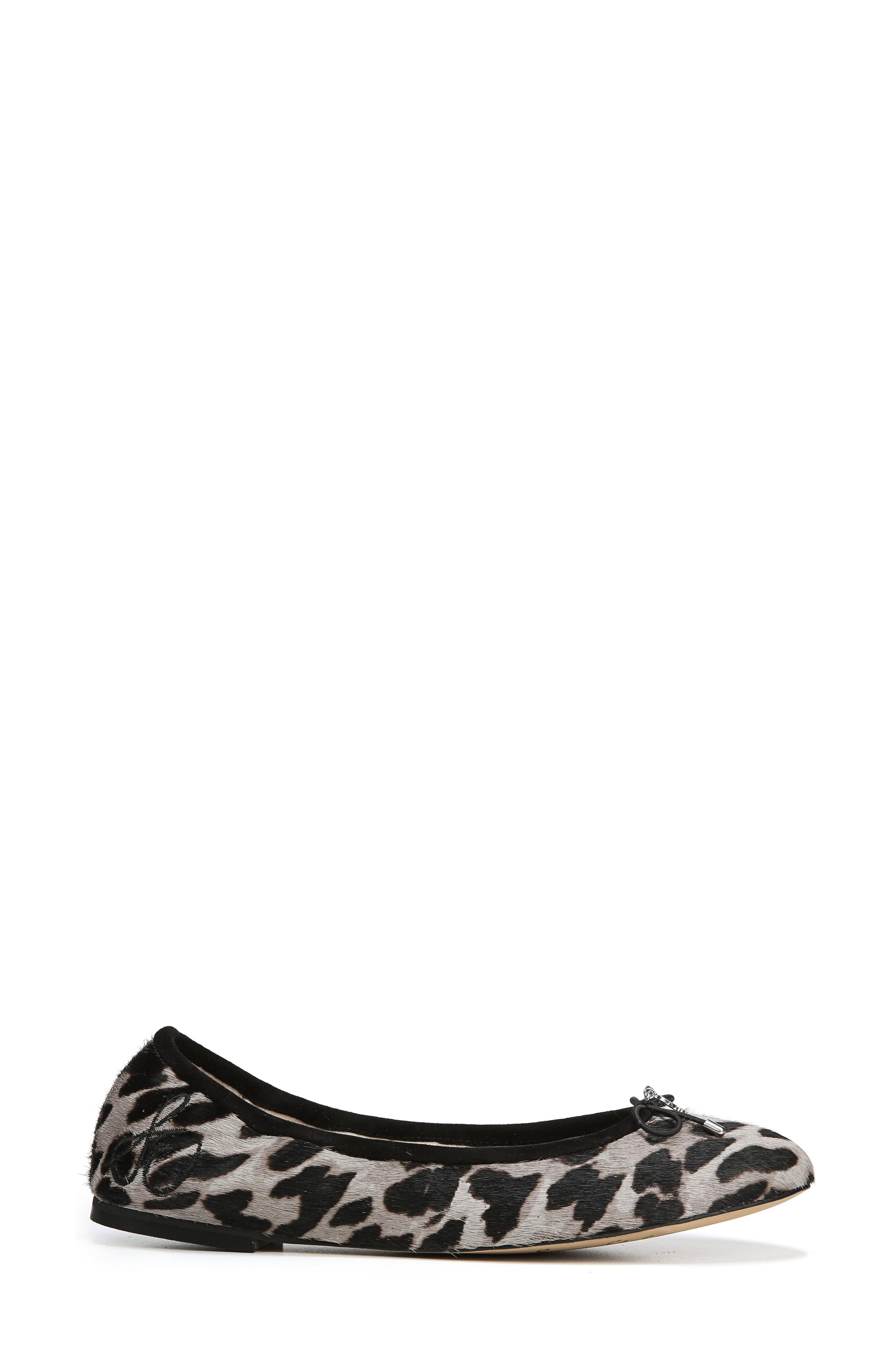 SAM EDELMAN, Felicia Flat, Alternate thumbnail 3, color, CLOUDED LEOPARD BRAHMA HAIR