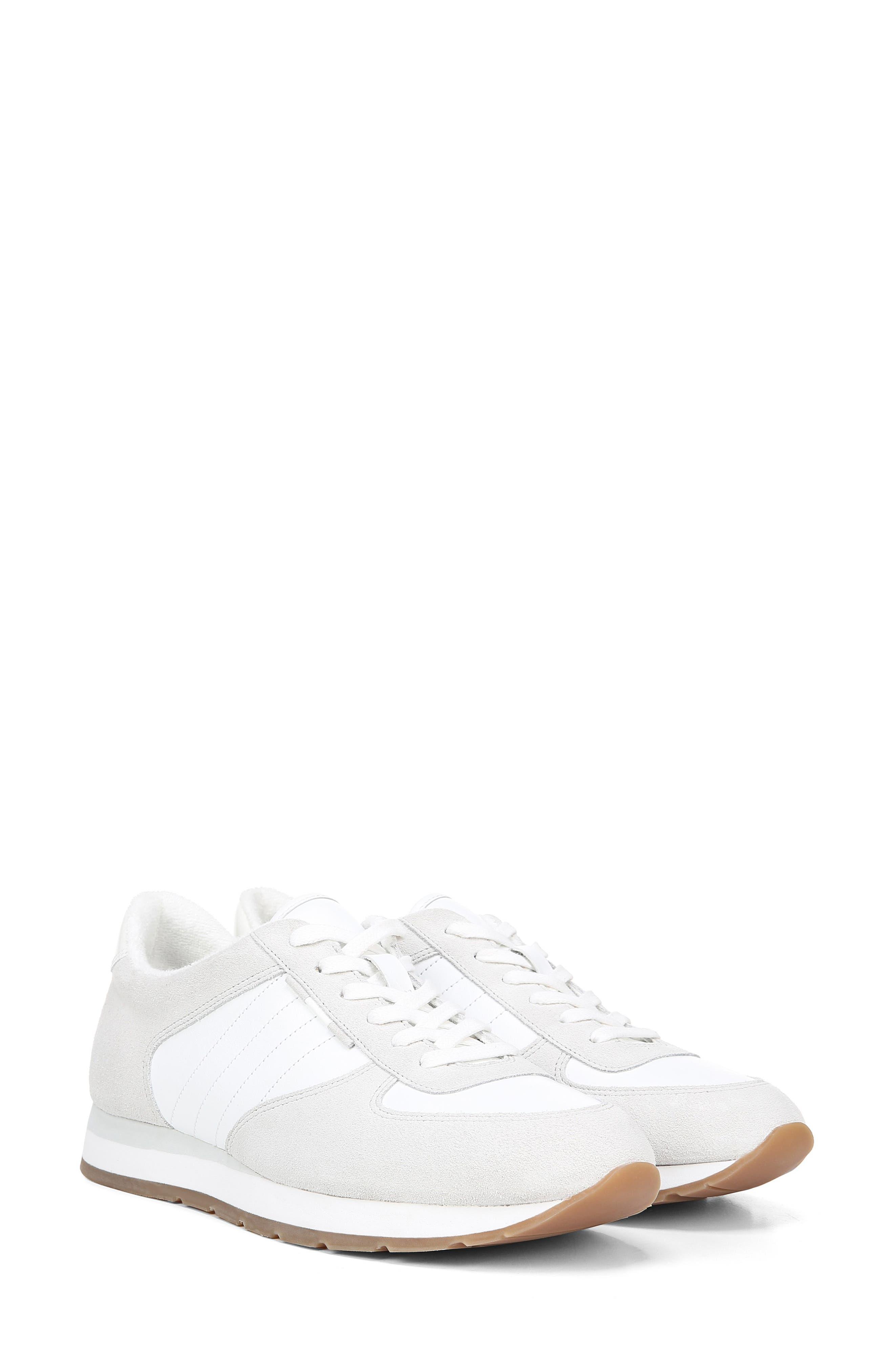 VINCE, Pasha Sneaker, Alternate thumbnail 9, color, WHITE