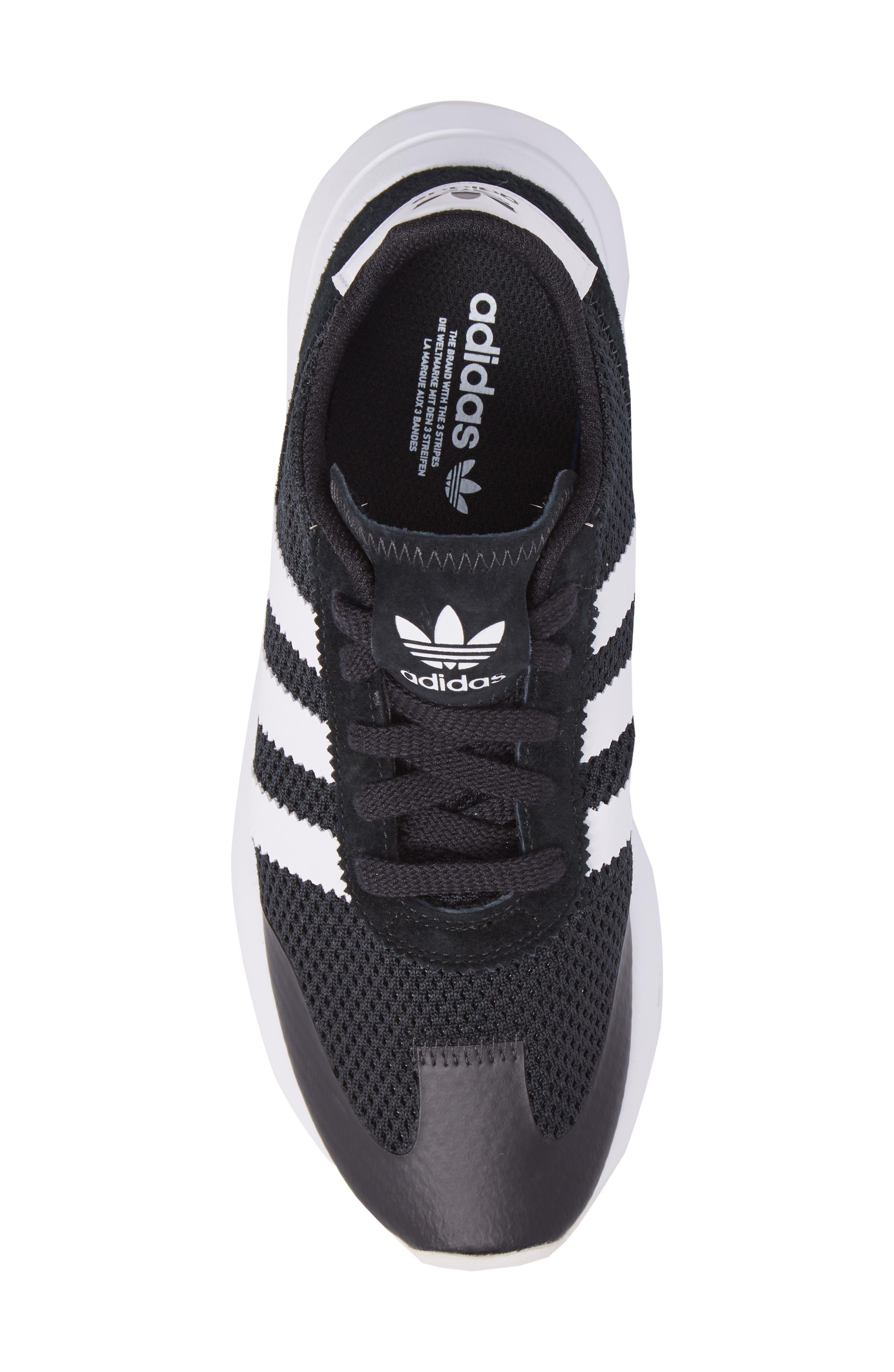 ADIDAS, Flashback Sneaker, Alternate thumbnail 5, color, 001