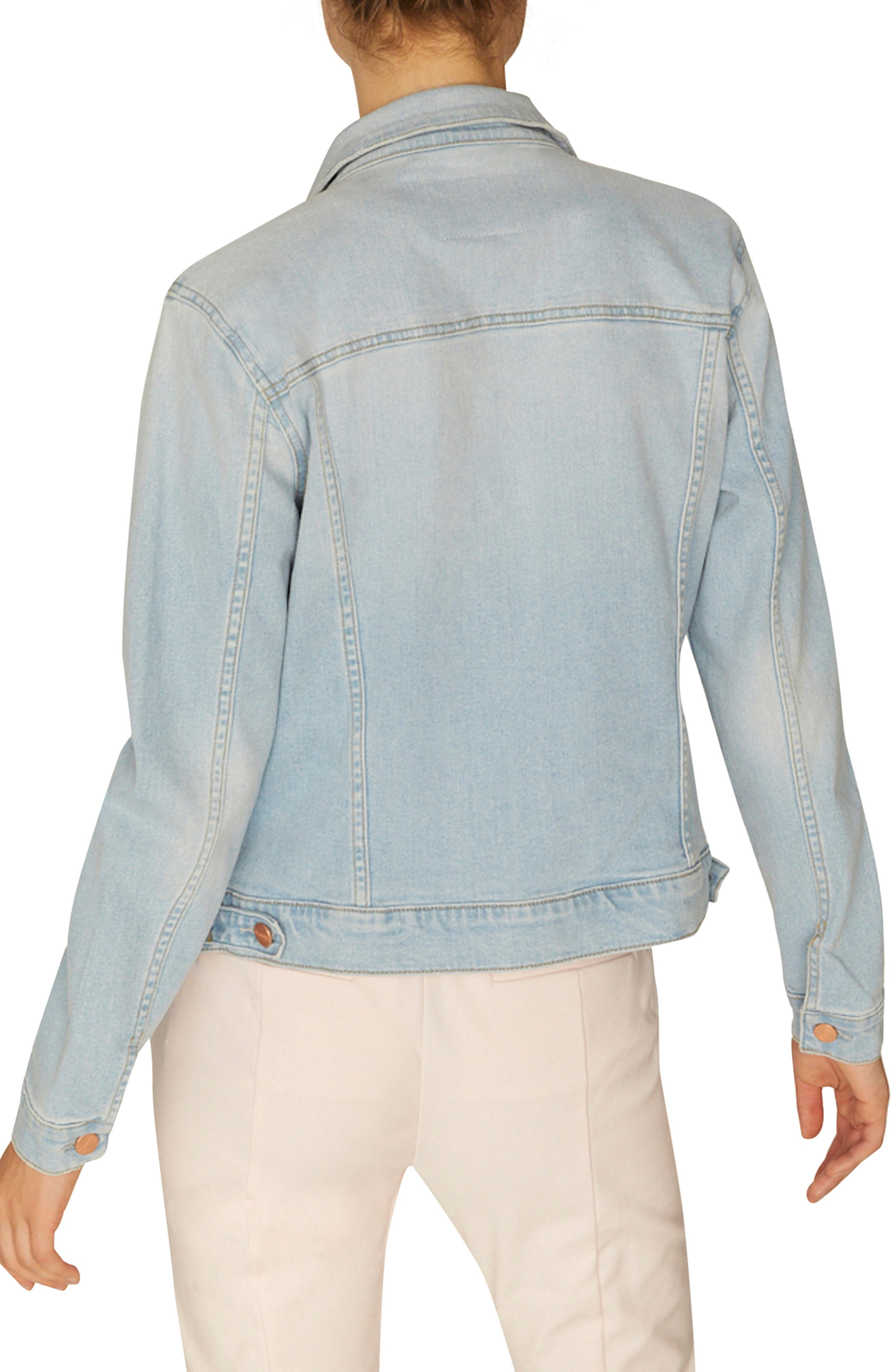 SANCTUARY, Kyle Denim Jacket, Alternate thumbnail 2, color, 450