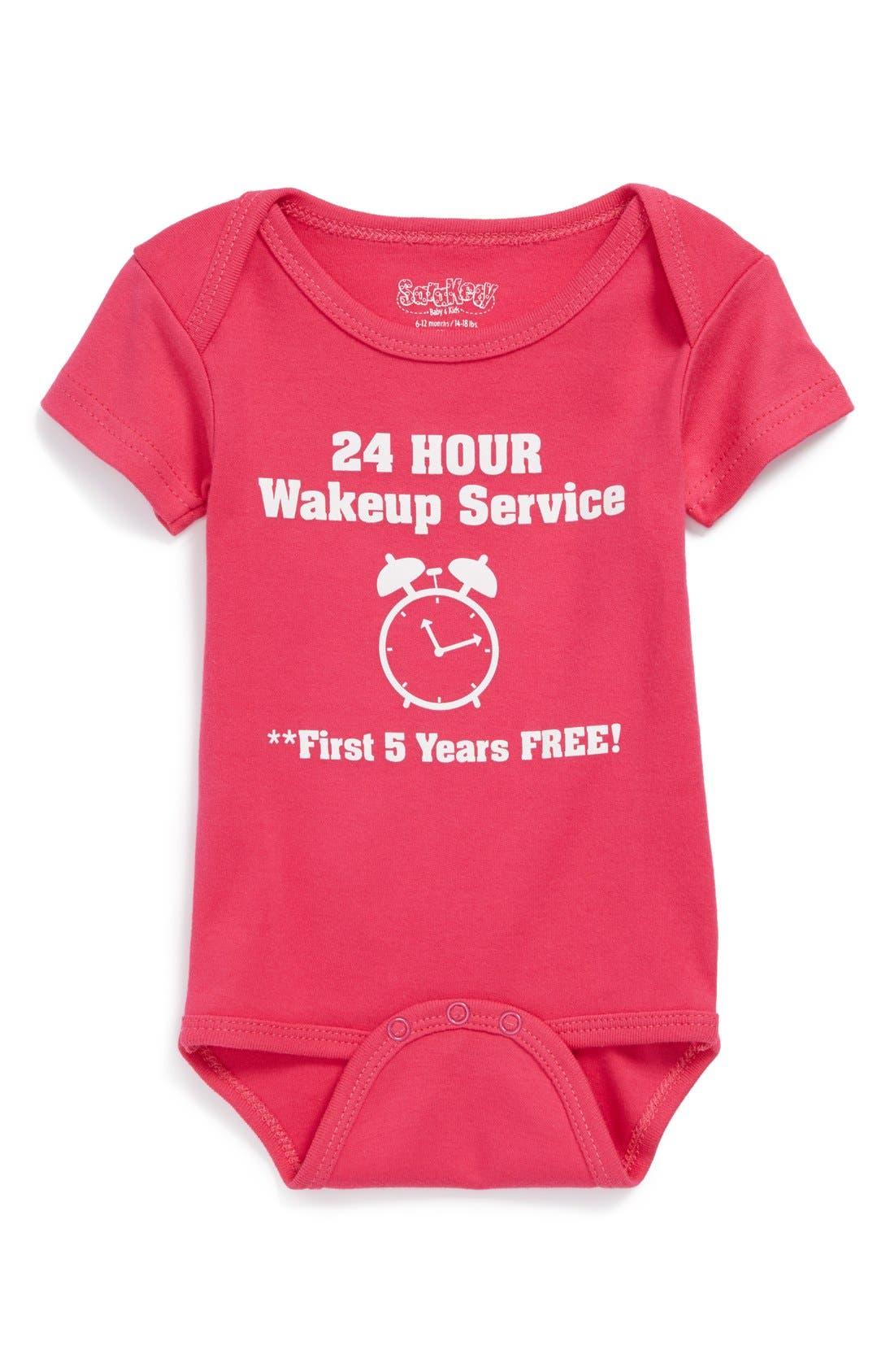 SARA KETY BABY & KIDS, 'Wakeup Service' Bodysuit, Main thumbnail 1, color, 674