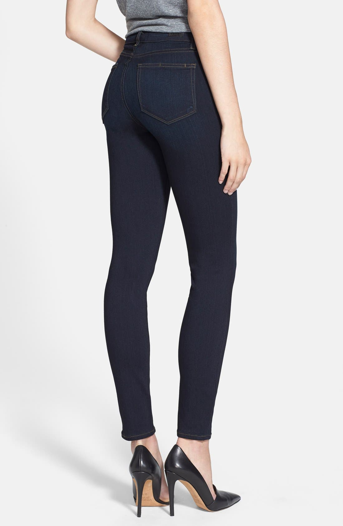 PAIGE, Transcend - Hoxton High Waist Ultra Skinny Jeans, Alternate thumbnail 5, color, MONA