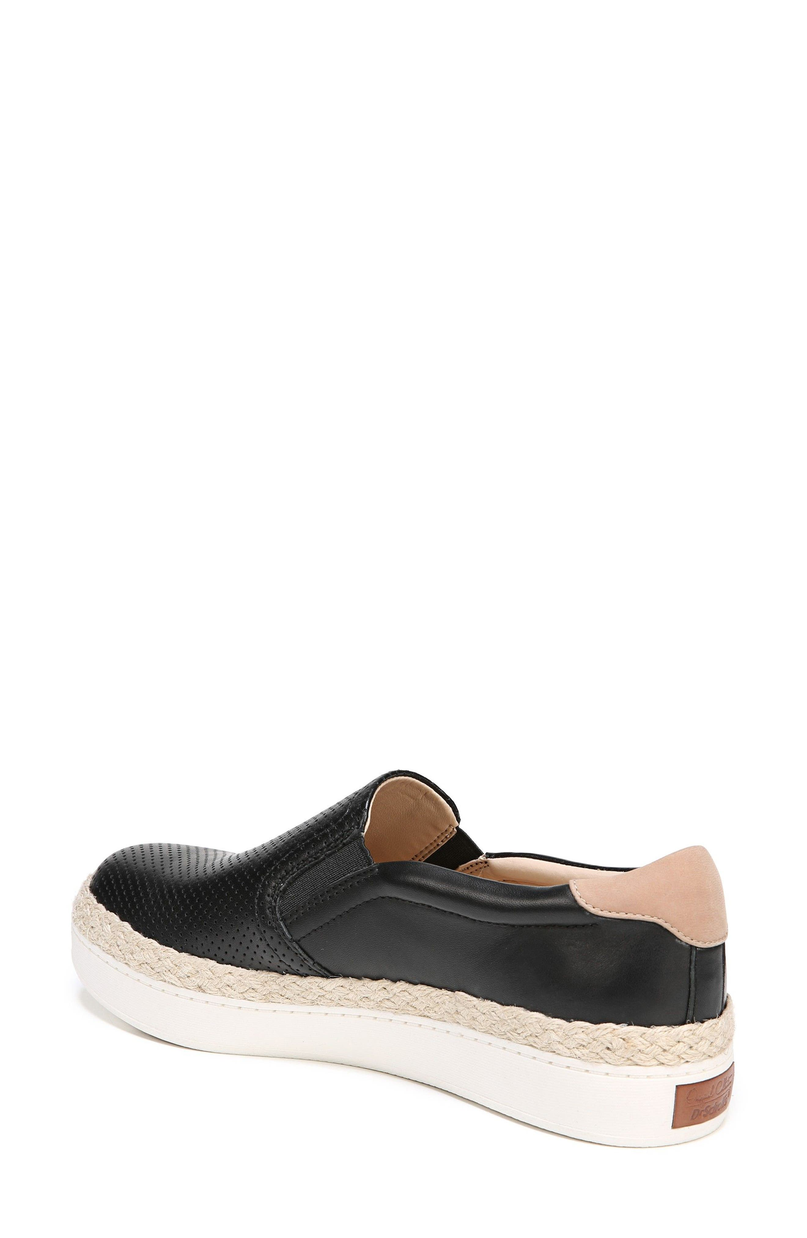 DR. SCHOLL'S, Scout Slip-On Sneaker, Alternate thumbnail 2, color, BLACK LEATHER