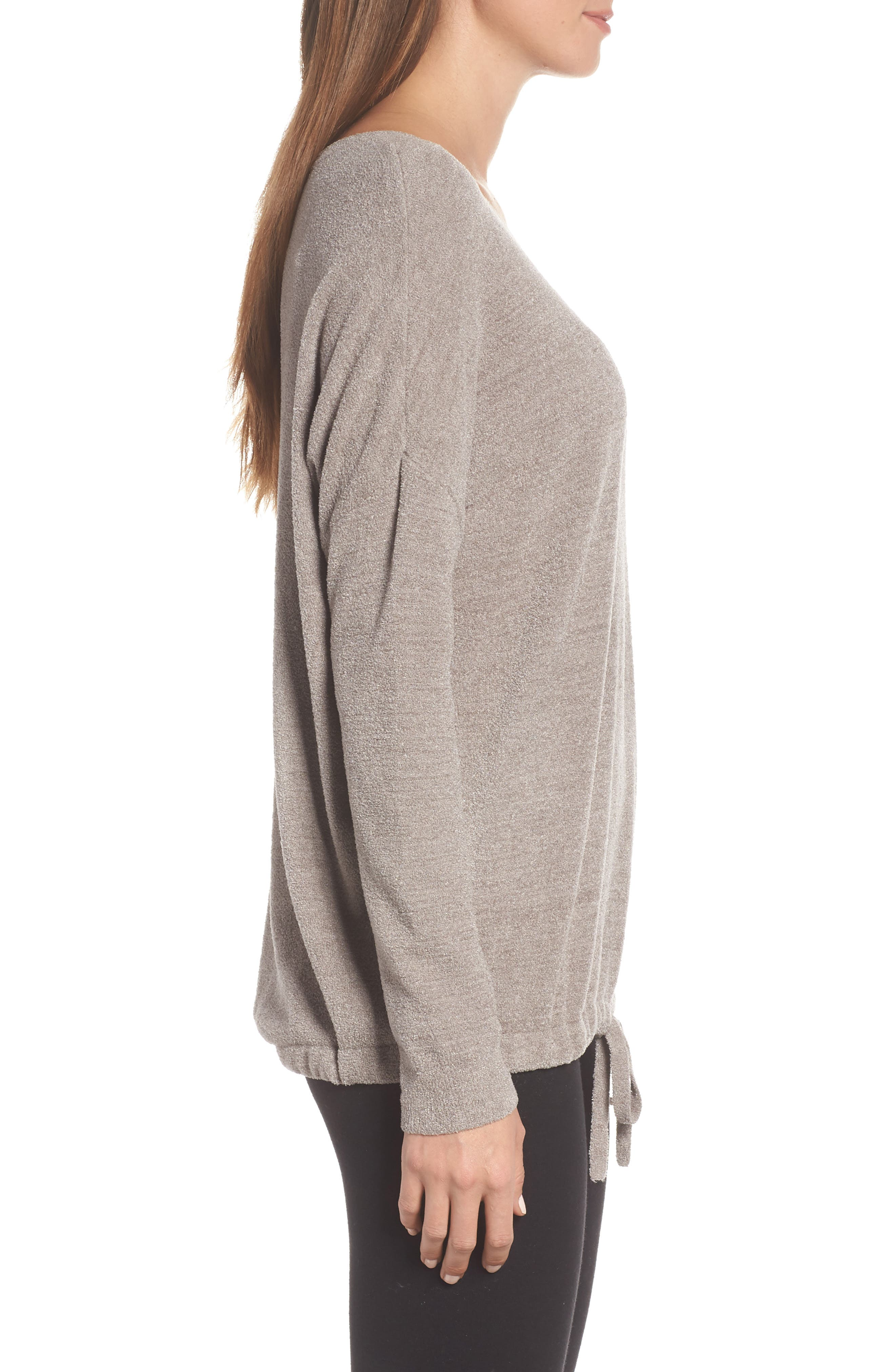 BAREFOOT DREAMS<SUP>®</SUP>, Cozychic Ultra Lite<sup>®</sup> Lounge Pullover, Alternate thumbnail 3, color, BEACH ROCK