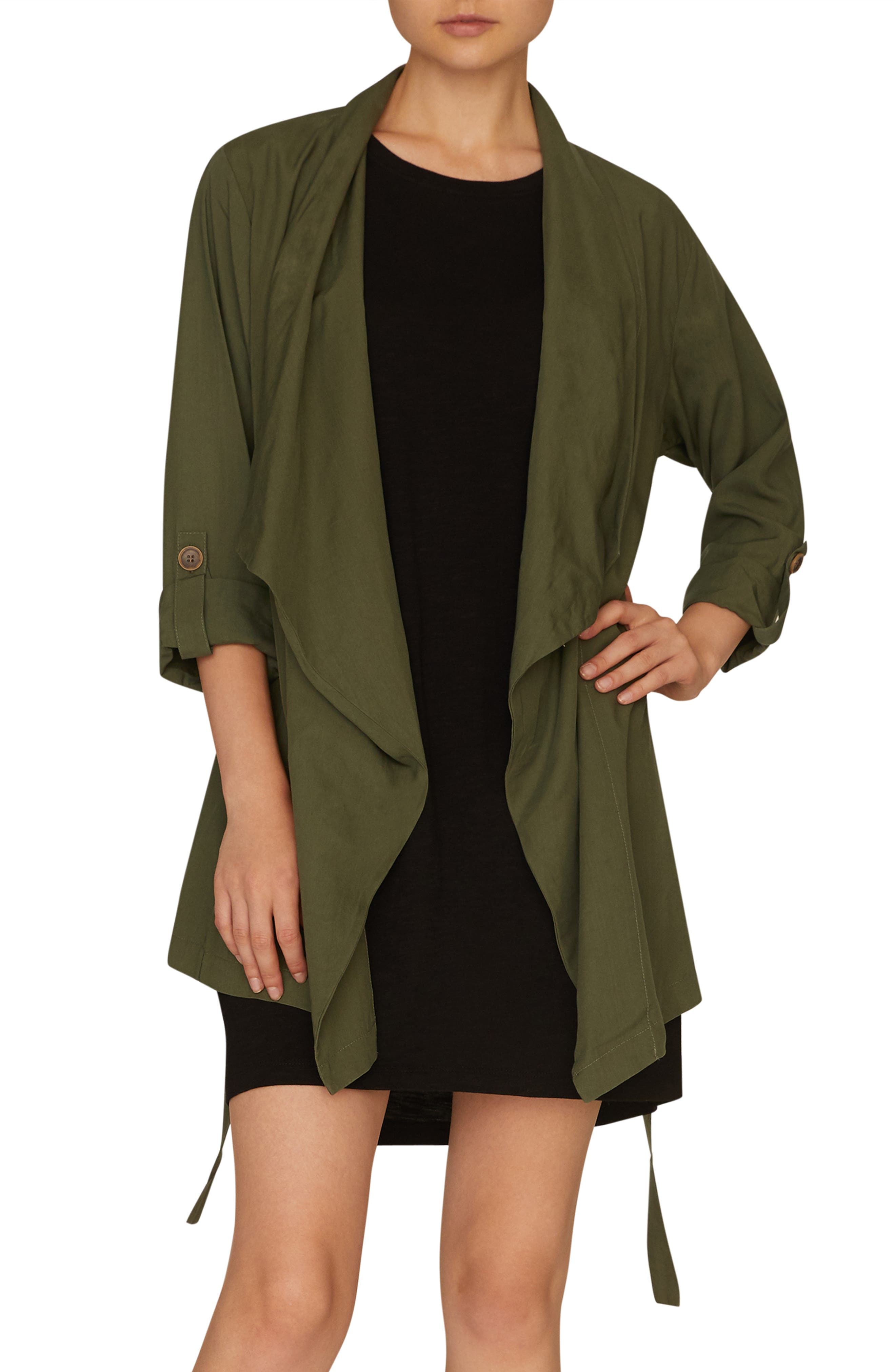 SANCTUARY, On-the-Go Jacket, Main thumbnail 1, color, PEACE GREEN