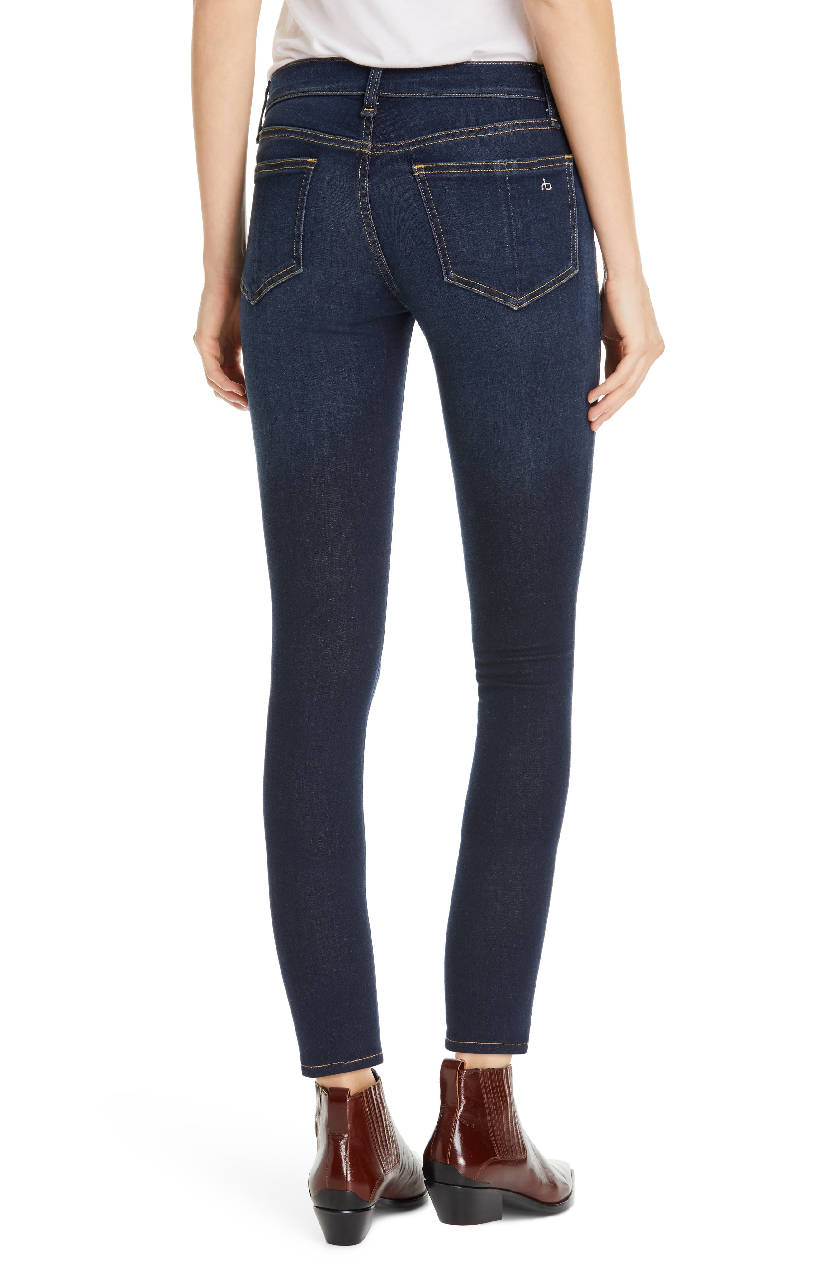 RAG & BONE, Cate Ankle Skinny Jeans, Alternate thumbnail 2, color, CARMEN