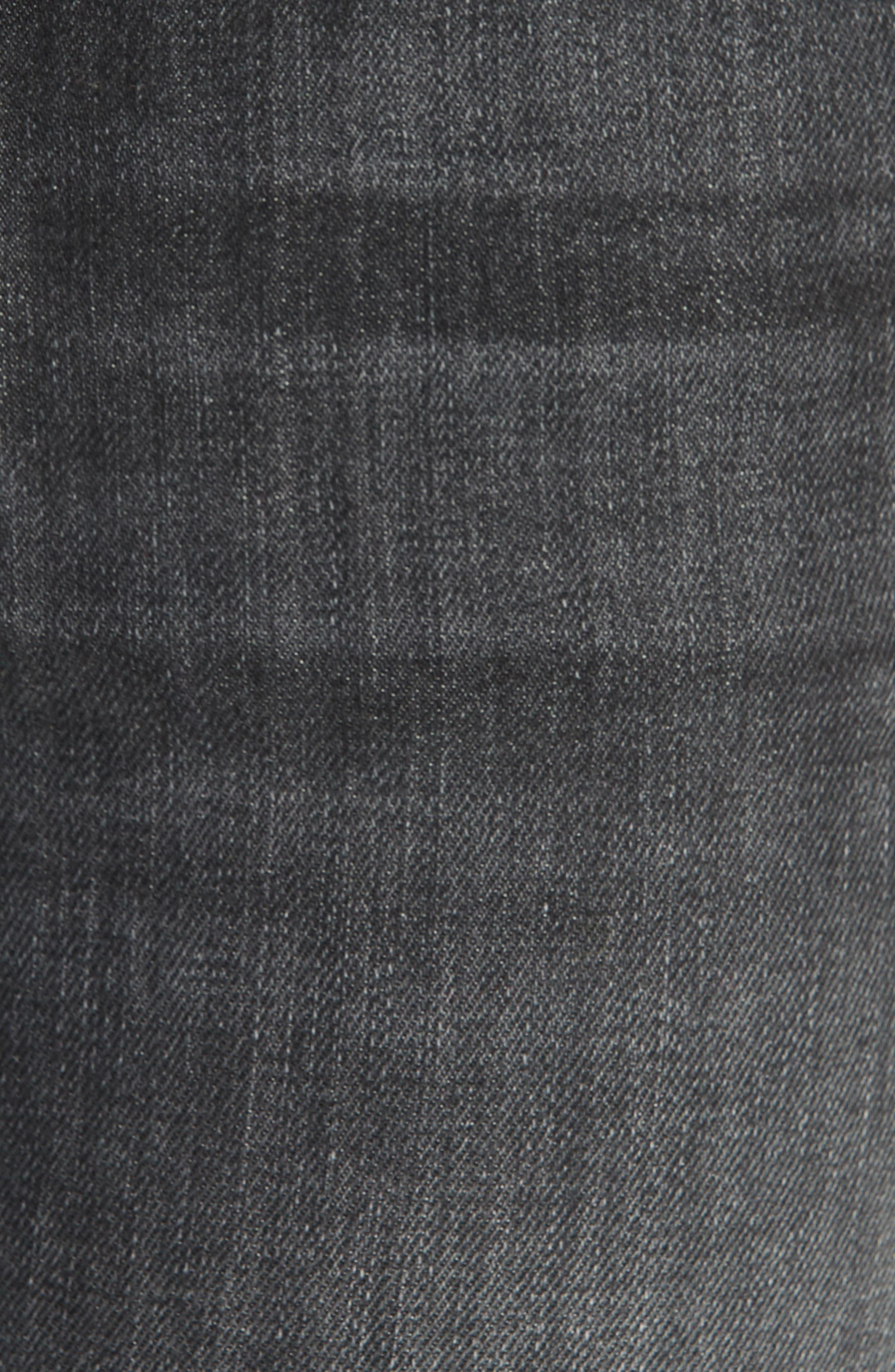 RAG & BONE, High Waist Raw Hem Crop Skinny Jeans, Alternate thumbnail 5, color, BRANDI