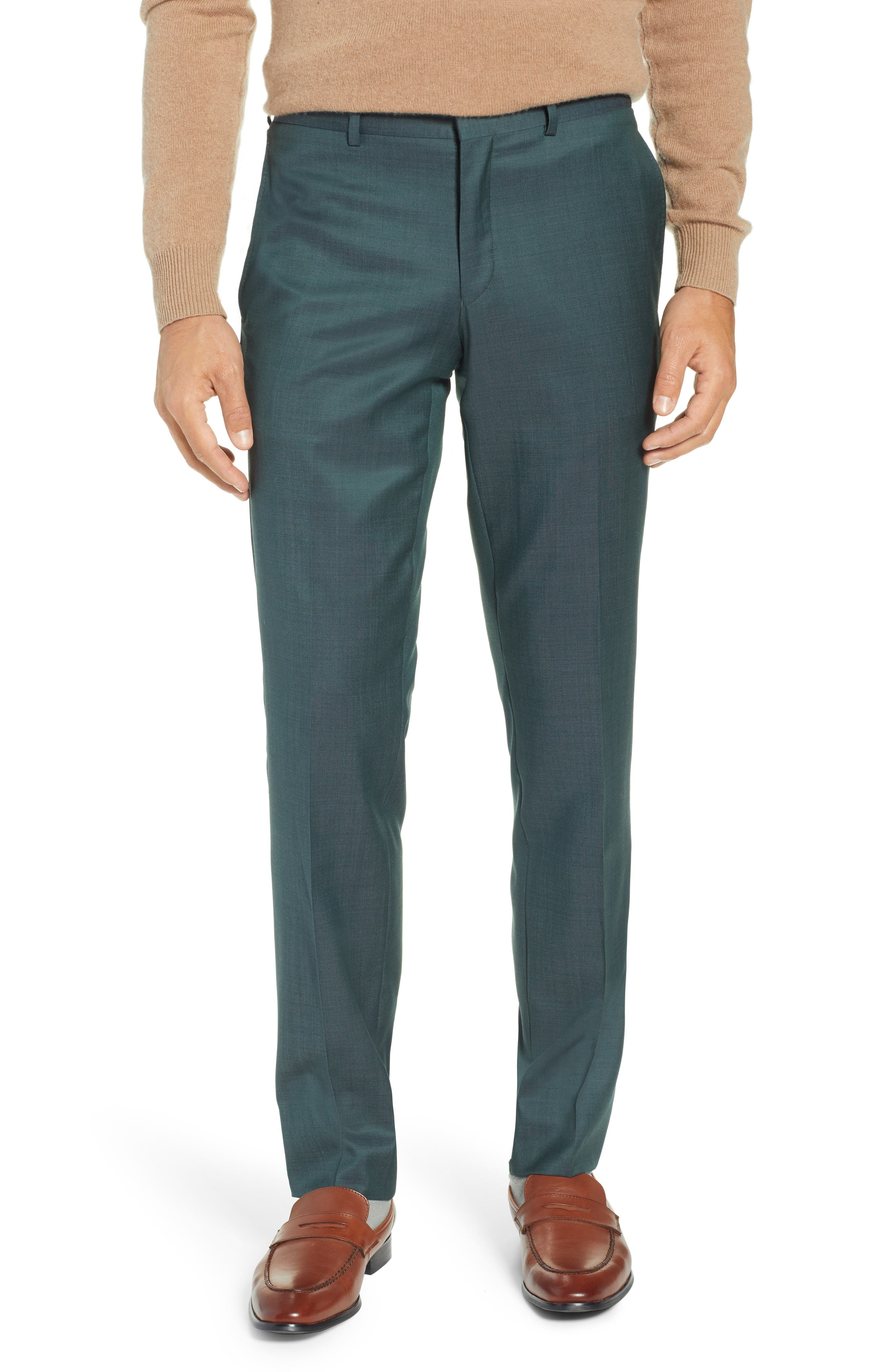 TED BAKER LONDON, Roger Slim Fit Solid Wool Suit, Alternate thumbnail 6, color, GREEN