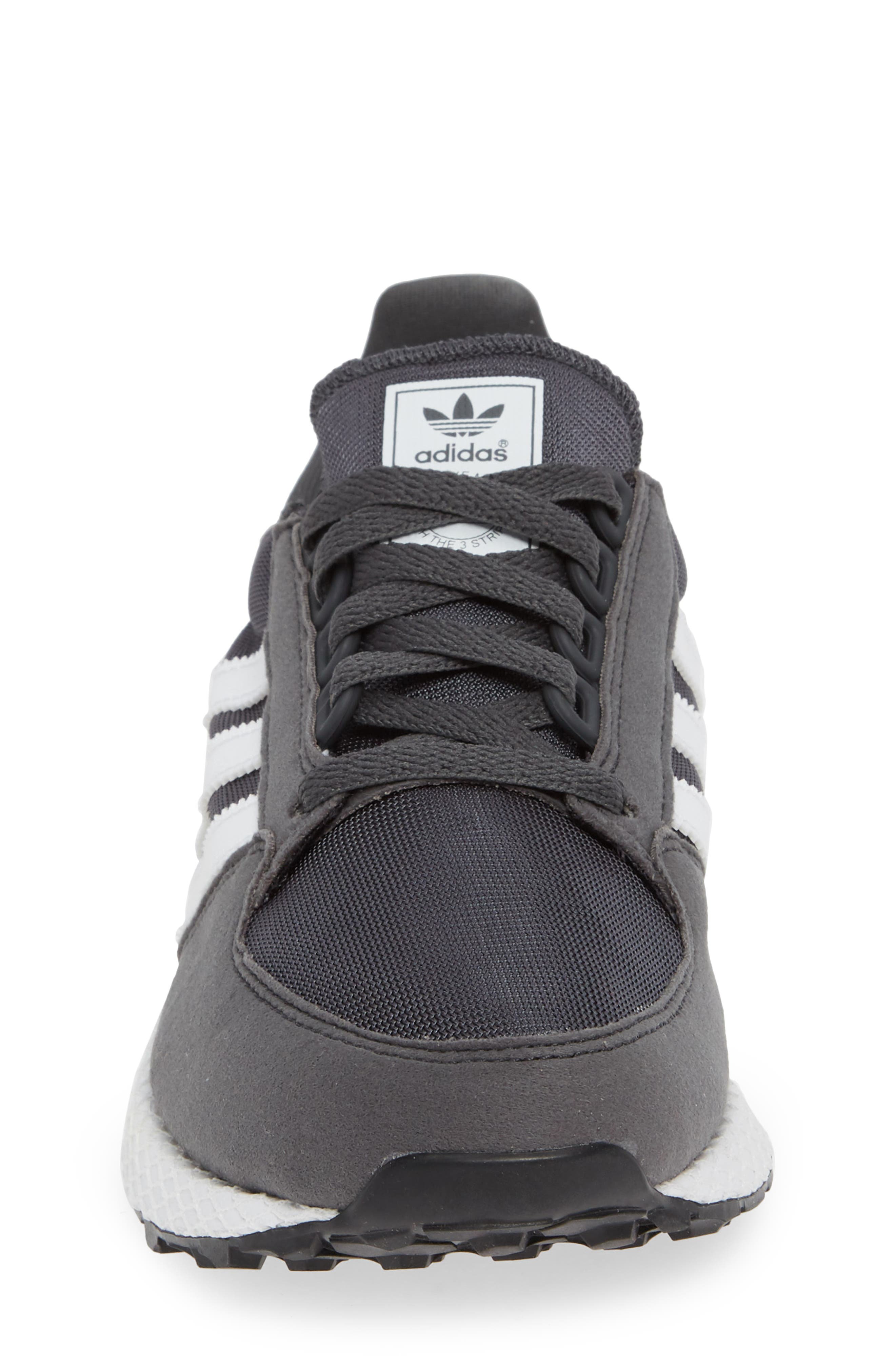 ADIDAS, Forest Grove Sneaker, Alternate thumbnail 4, color, GREY SIX/ WHITE/ GREY SIX