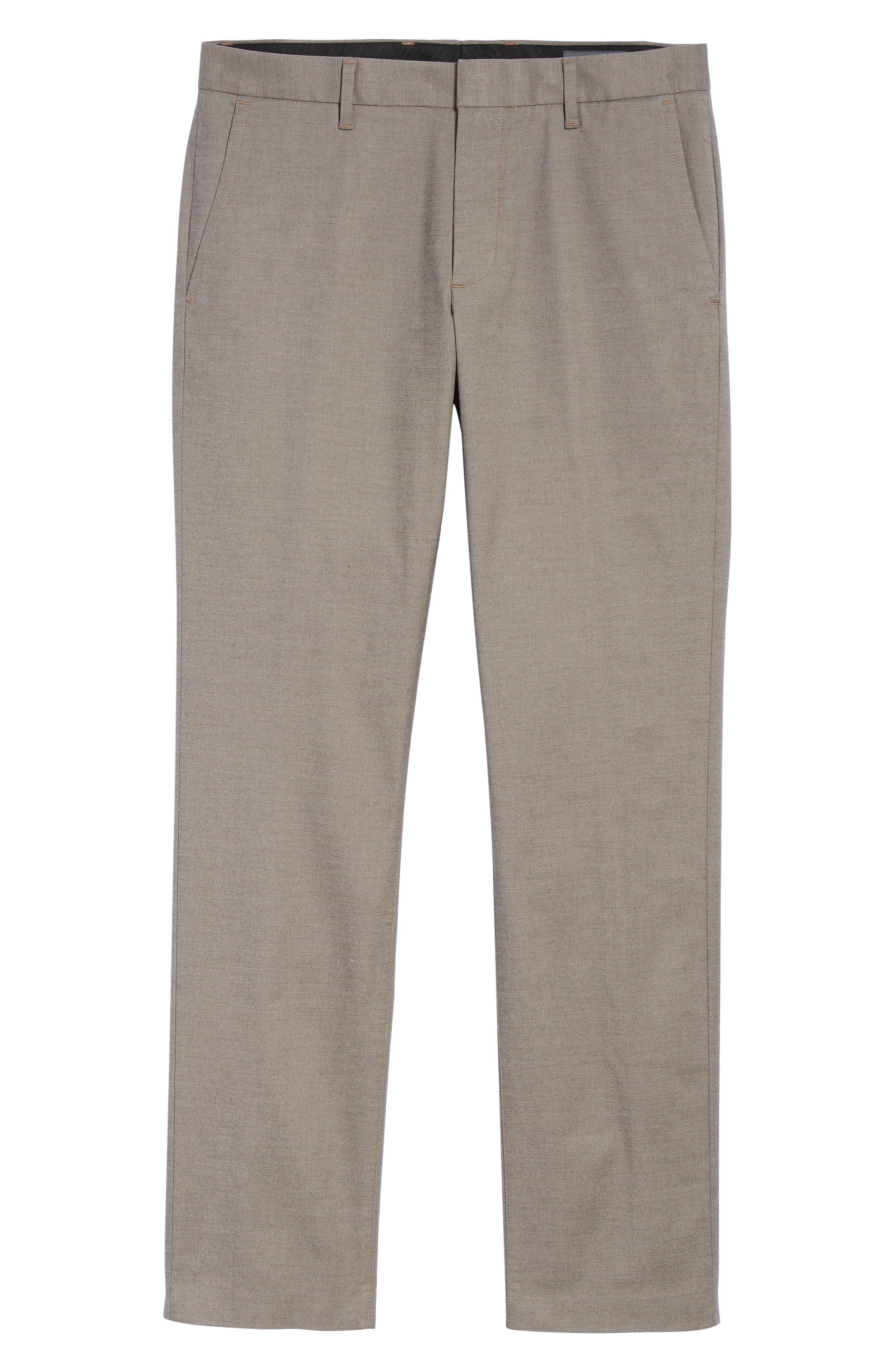 BONOBOS, Weekday Warrior Slim Fit Stretch Dress Pants, Alternate thumbnail 7, color, LIGHT KHAKI YARN DYE