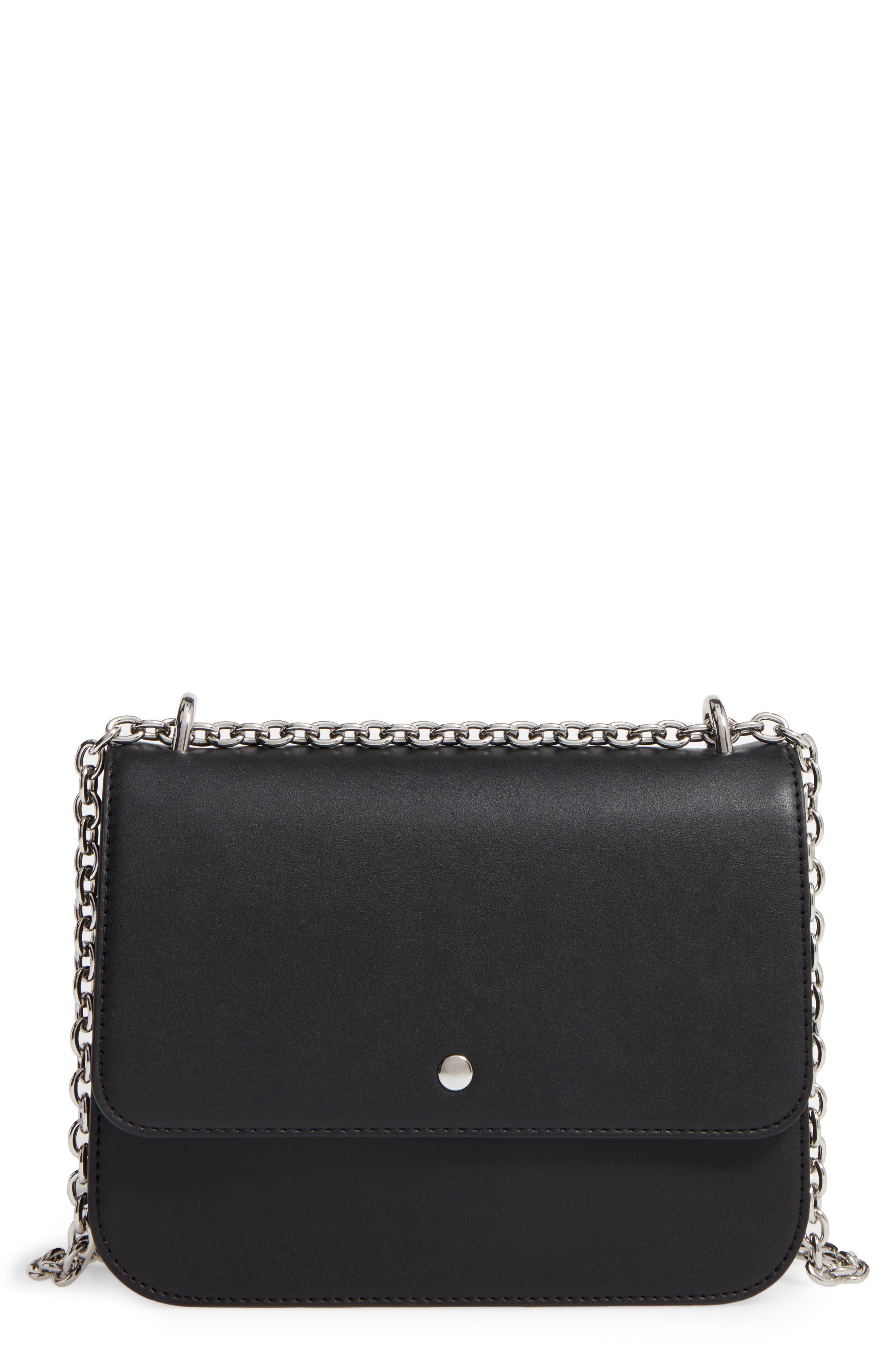 CHELSEA28, Dahlia Faux Leather Shoulder Bag, Main thumbnail 1, color, 001