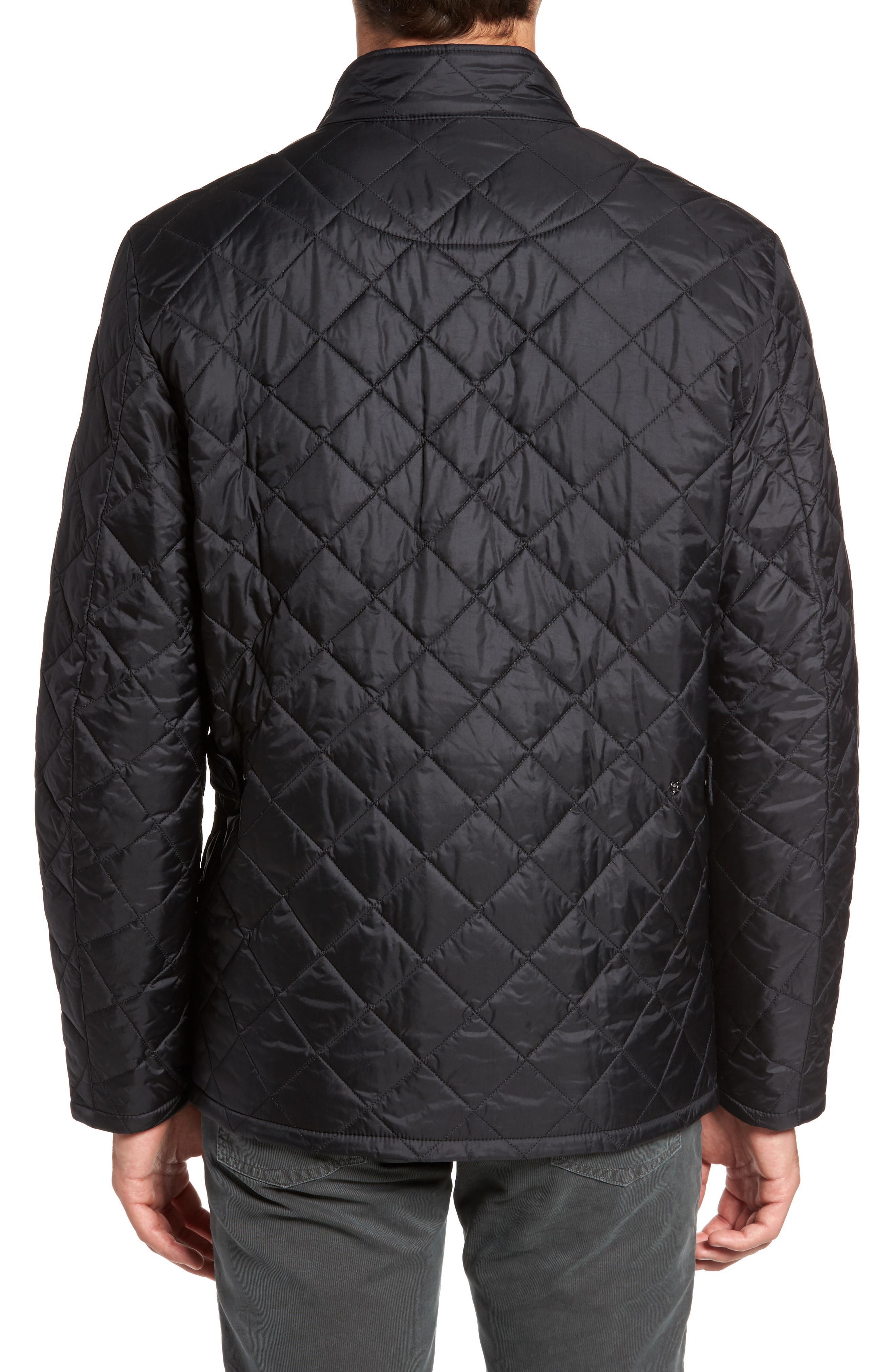 BARBOUR, Flyweight Chelsea Quilted Jacket, Alternate thumbnail 2, color, BLACK